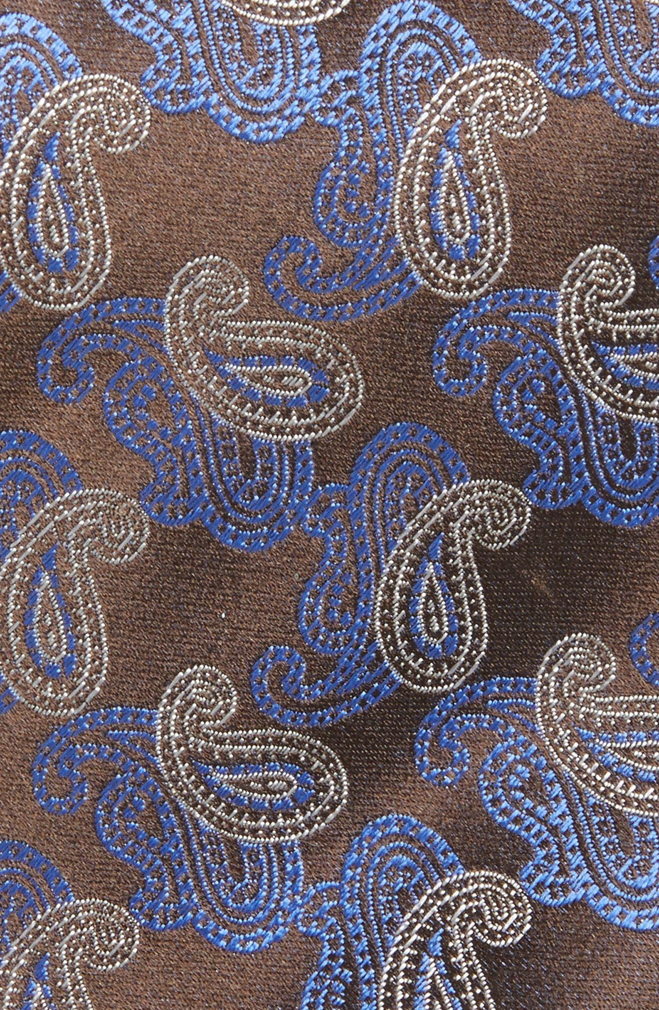 Alternate Image 2  - Canali Paisley Silk Tie