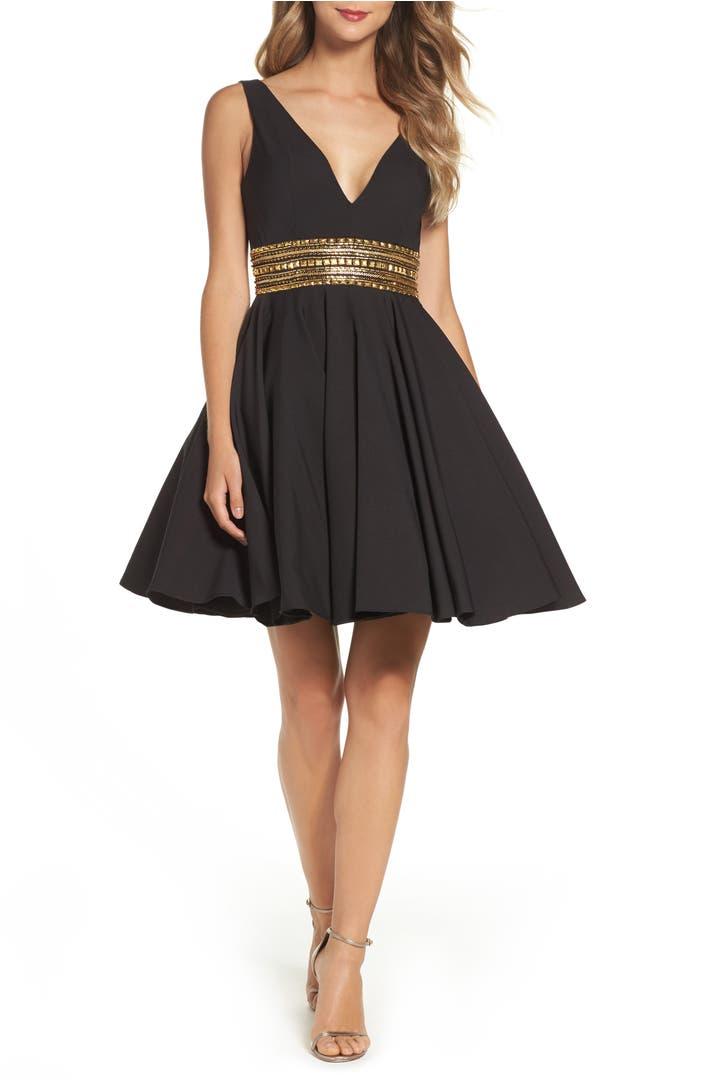 Ieena For Mac Duggal Embellished Fit Amp Flare Dress Nordstrom