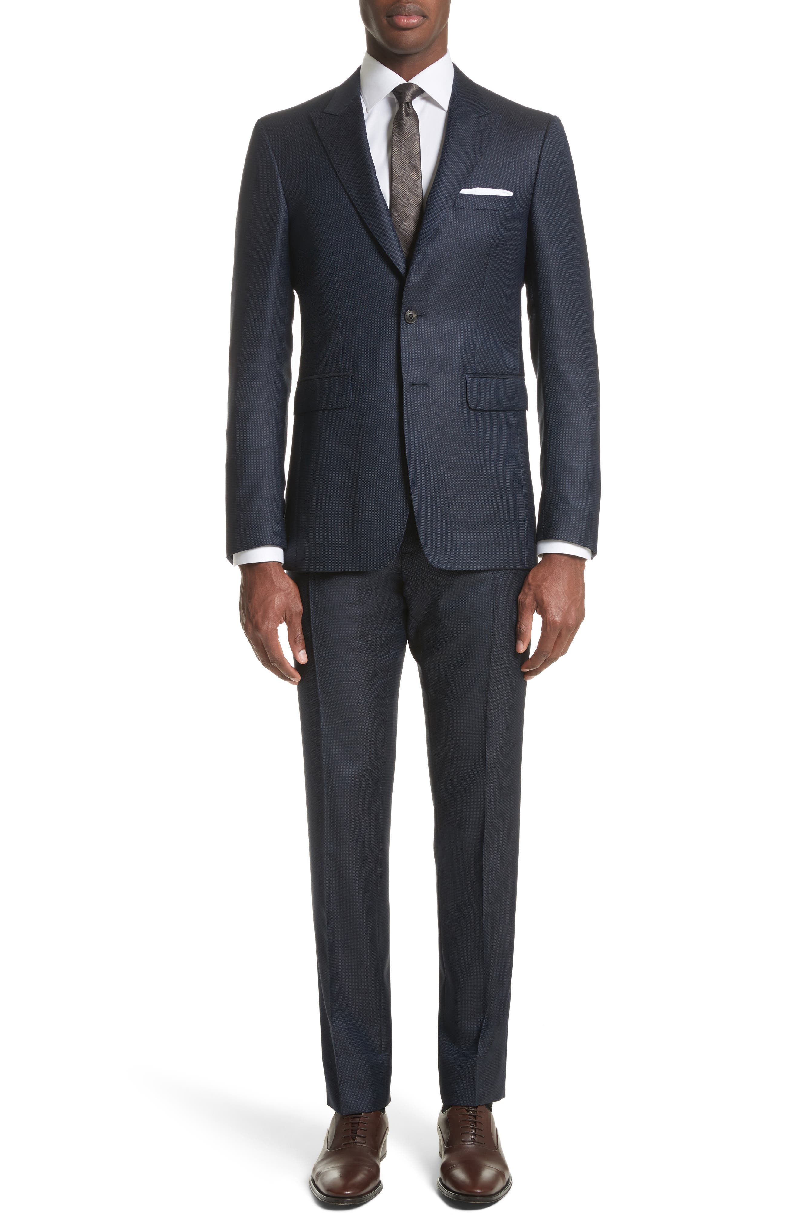 Alternate Image 1 Selected - Burberry Millbank Trim Fit Wool & Silk Suit