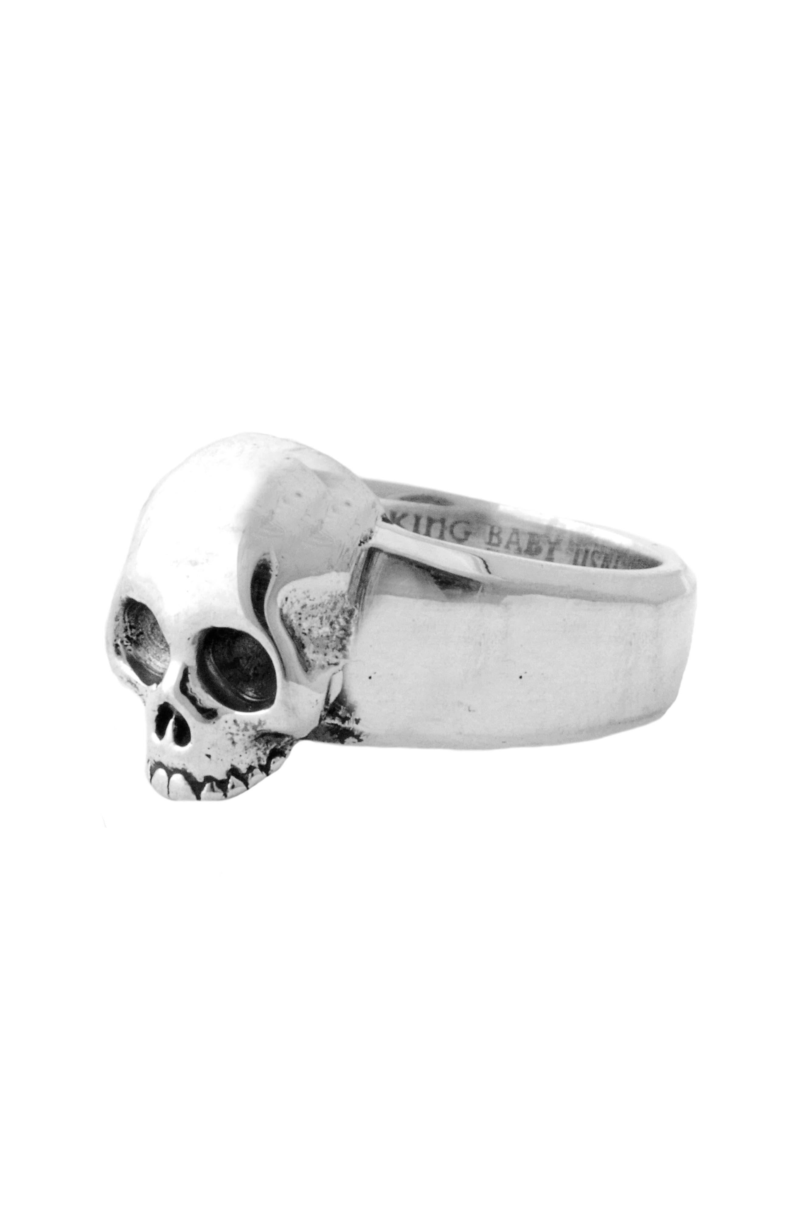 Hamlet Skull Ring,                             Main thumbnail 1, color,                             Silver