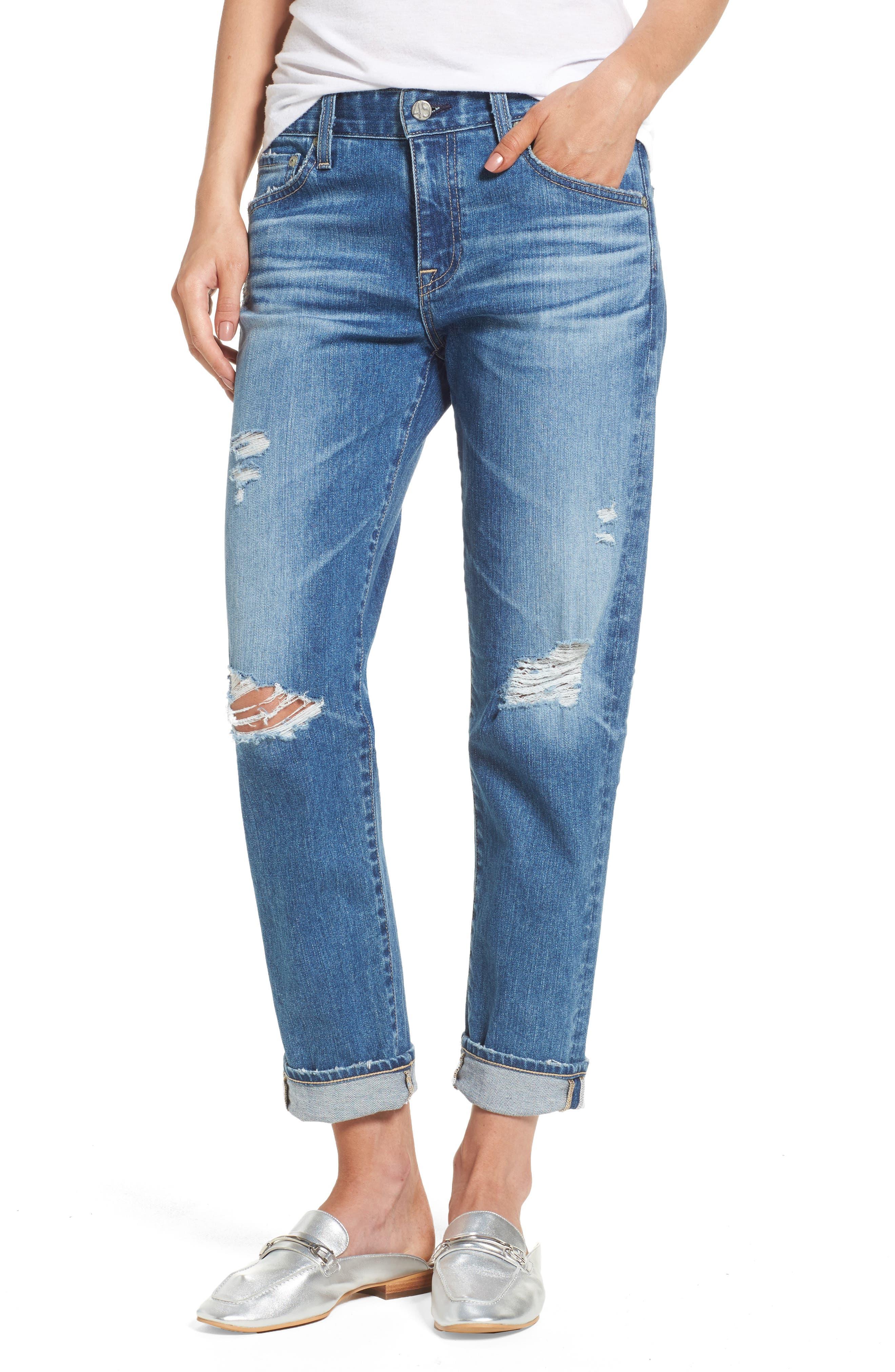 Ex-Boyfriend Crop Slim Jeans,                         Main,                         color, 15 Years Nebula