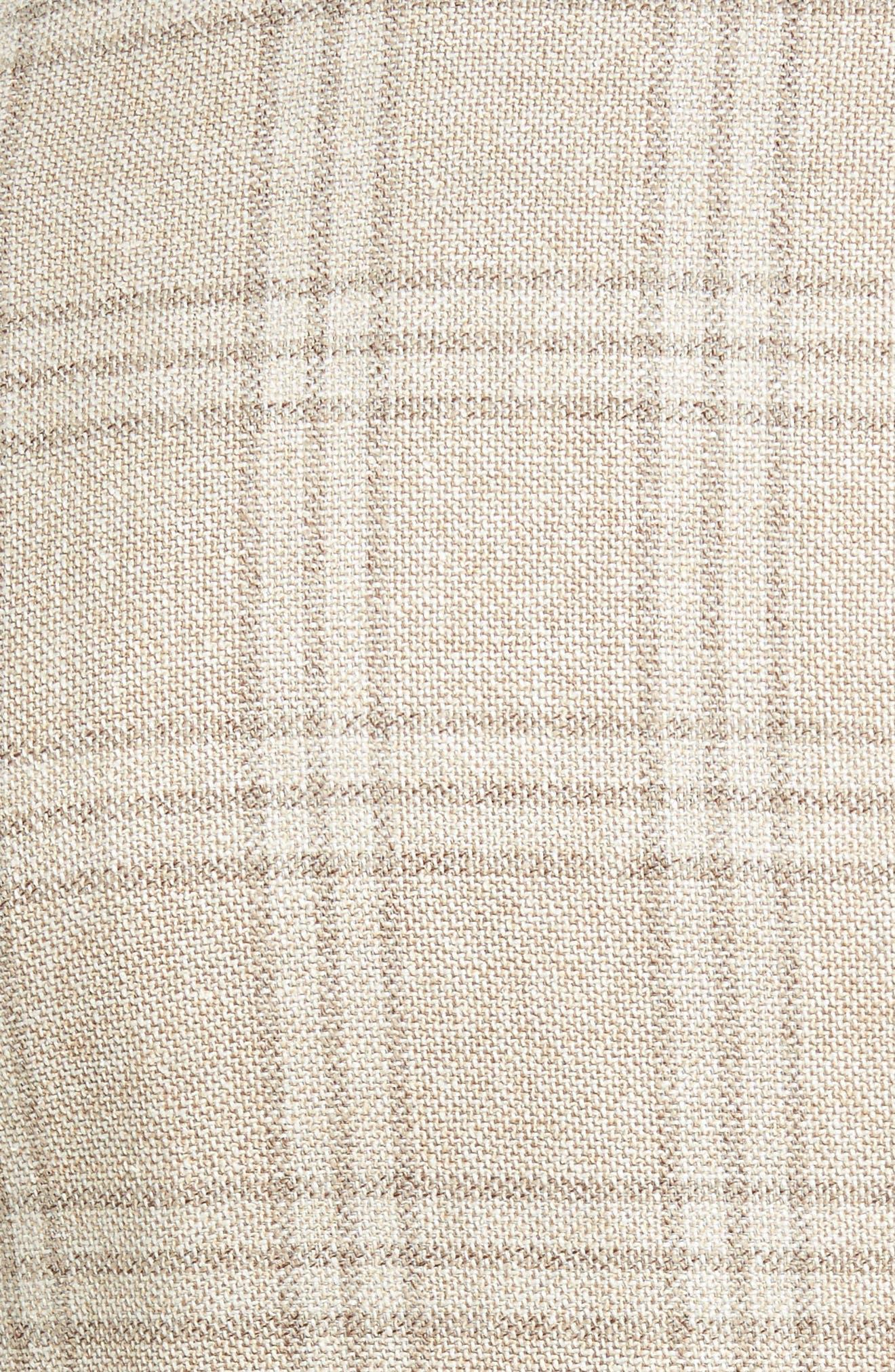 Plaid Wool Blend Sport Coat,                             Alternate thumbnail 5, color,                             Beige