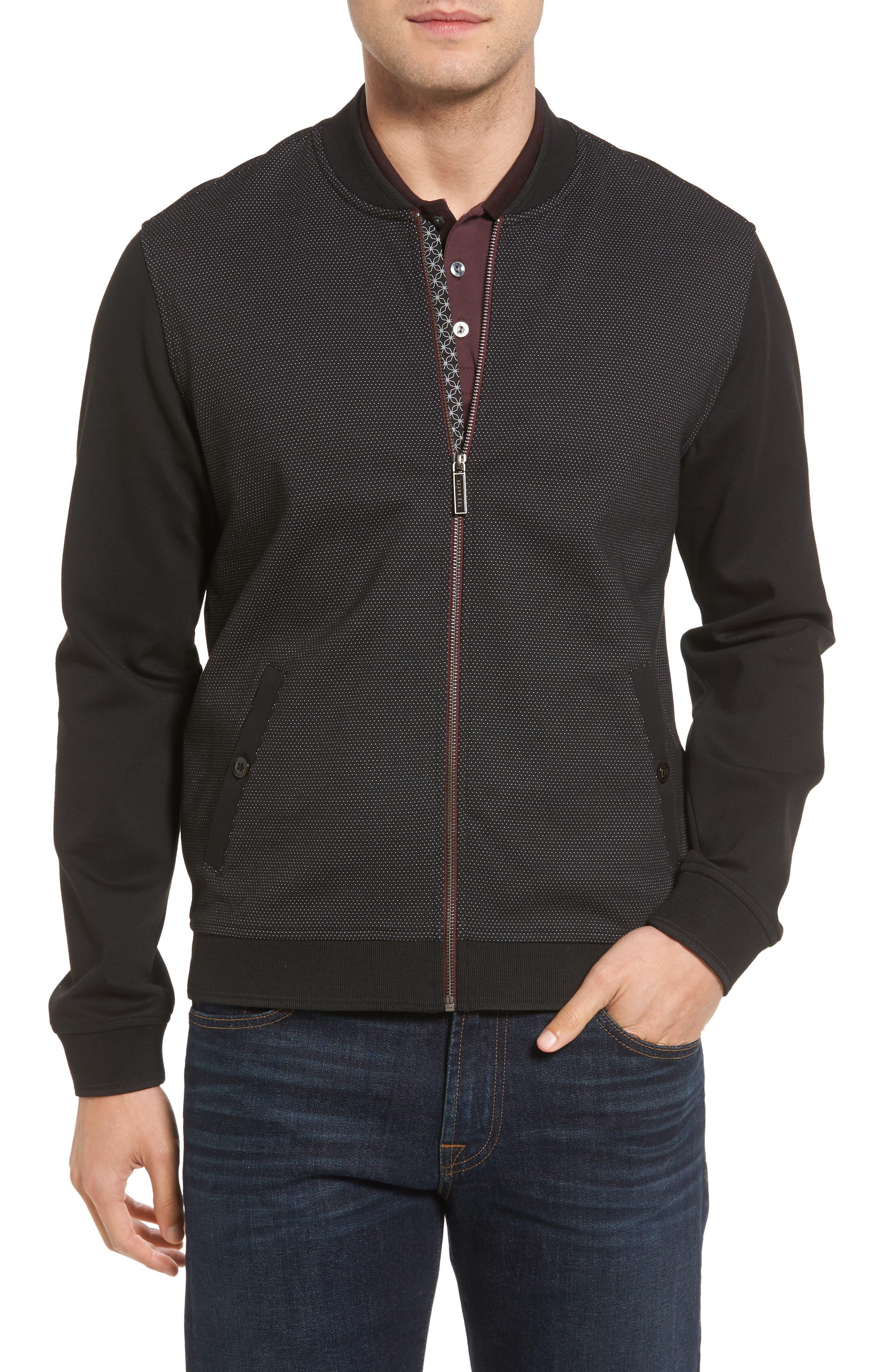 Badford Baseball Jacket,                         Main,                         color, Black