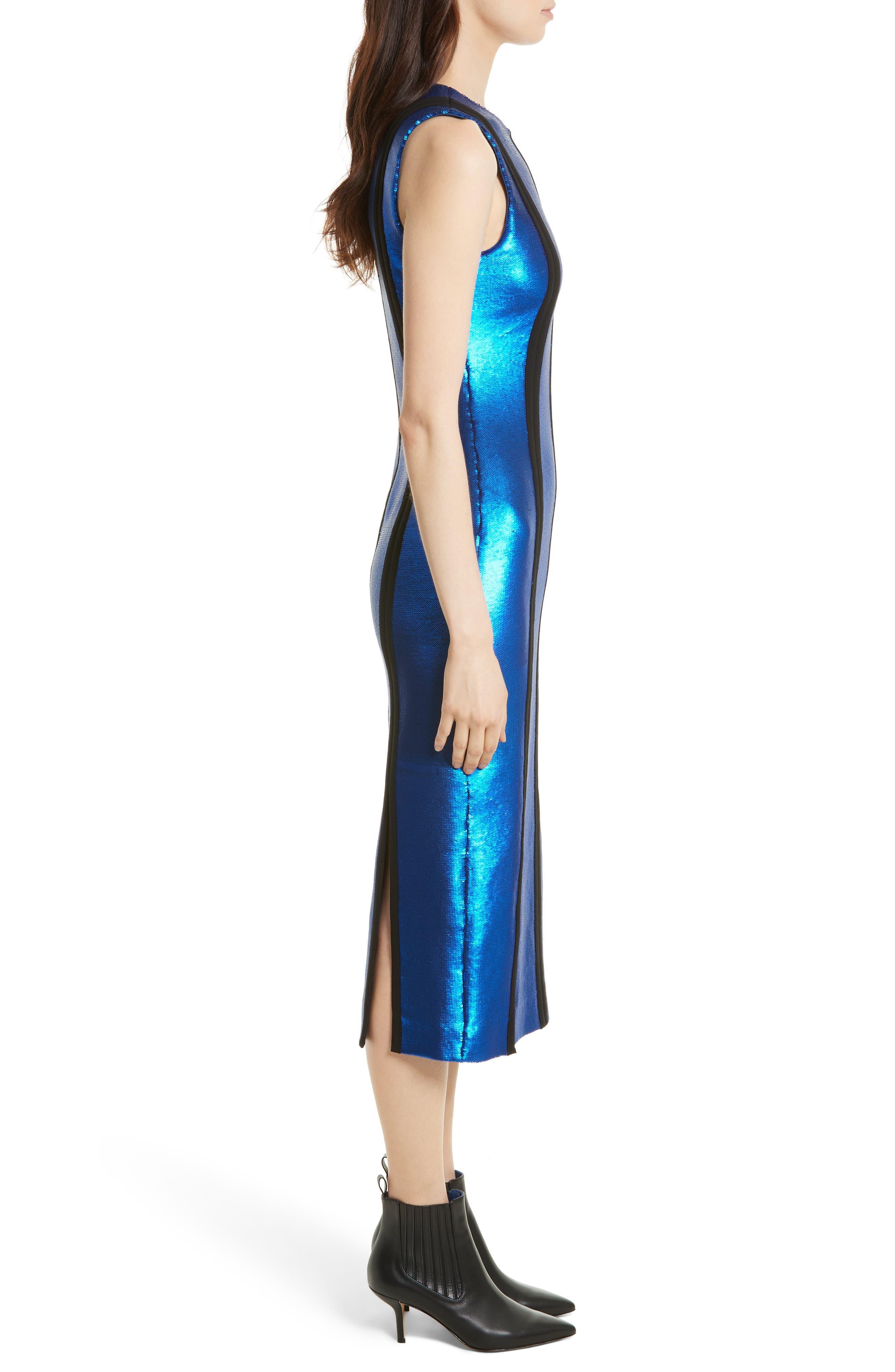 Alternate Image 4  - Diane von Furstenberg Sequin Panel Midi Dress