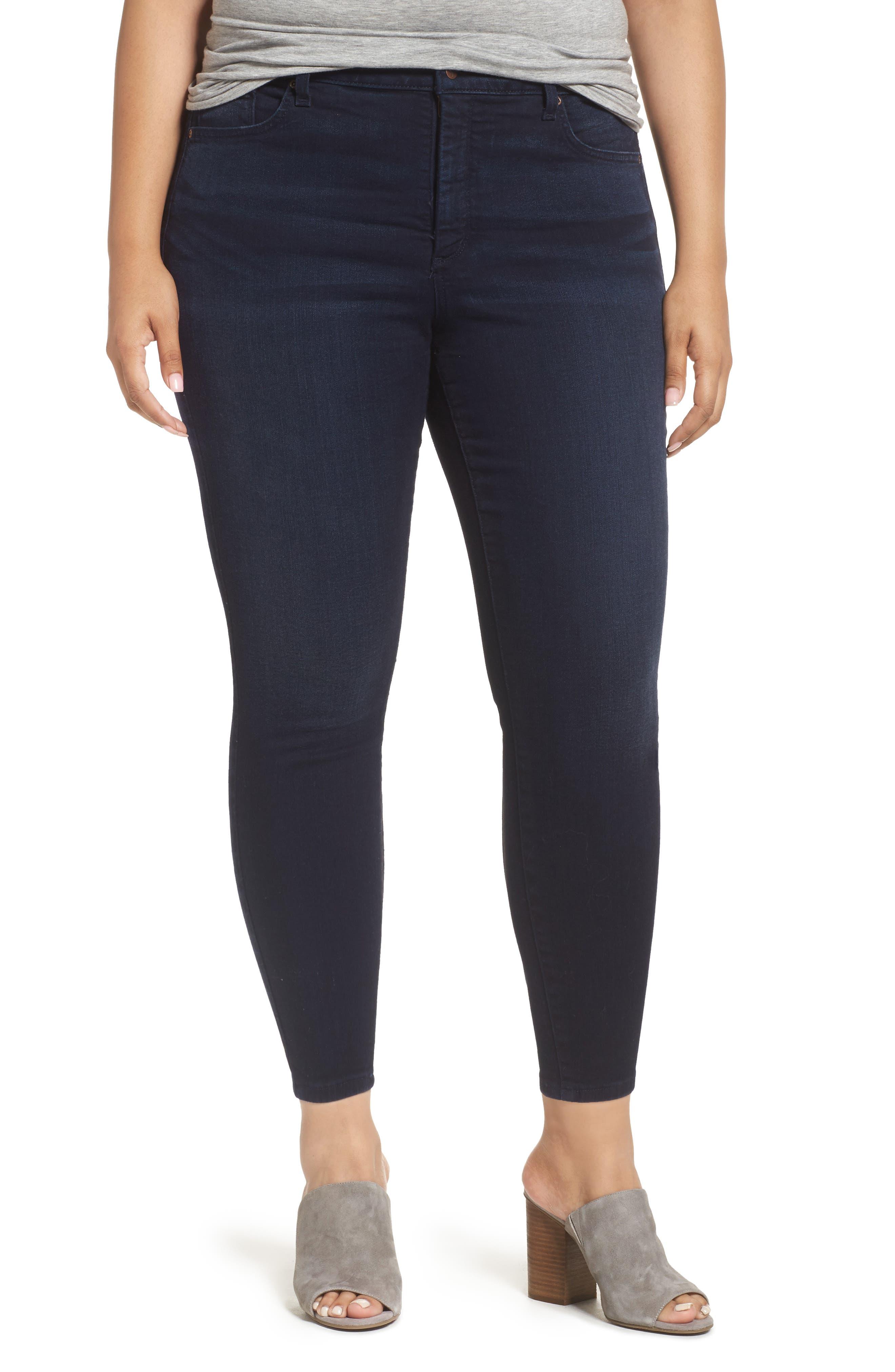 NYDJ Ami Stretch Skinny Ankle Jeans (Sinclair) (Plus Size)