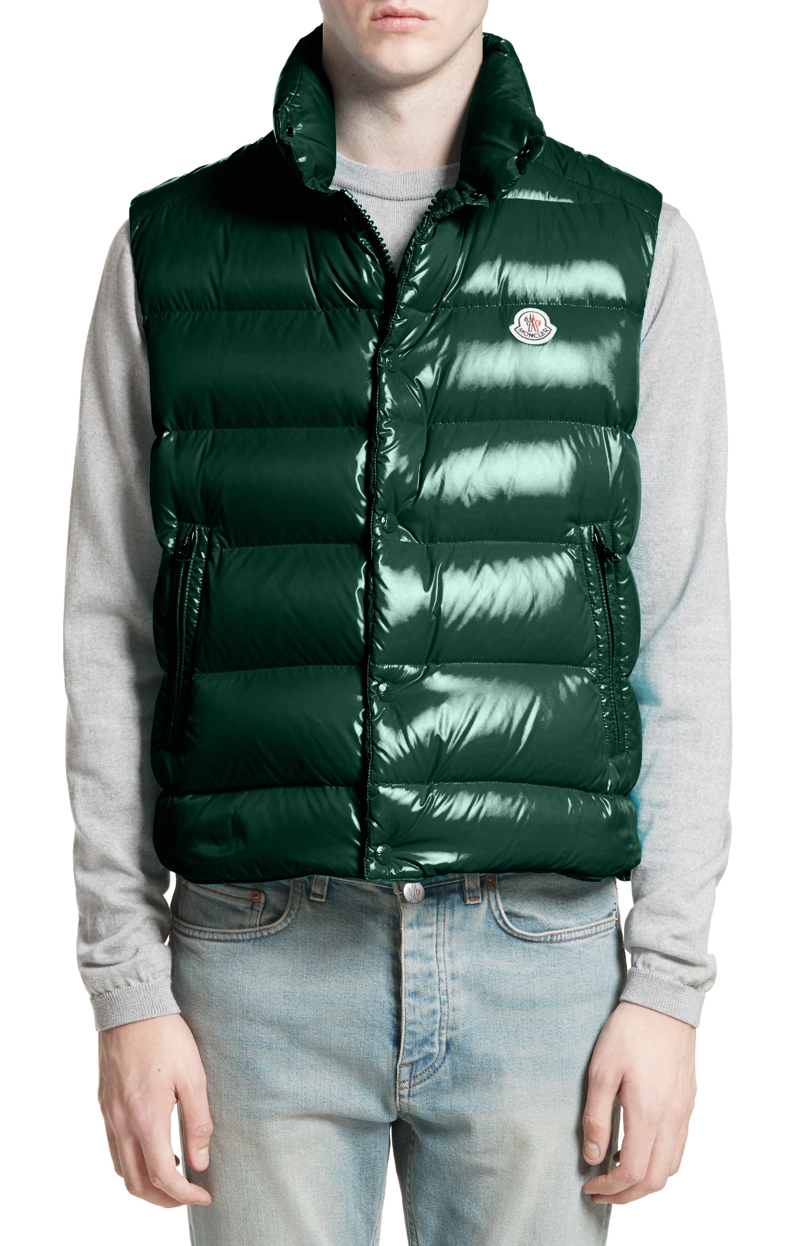 Tib Lacquered Down Vest,                             Main thumbnail 1, color,                             Dark Green