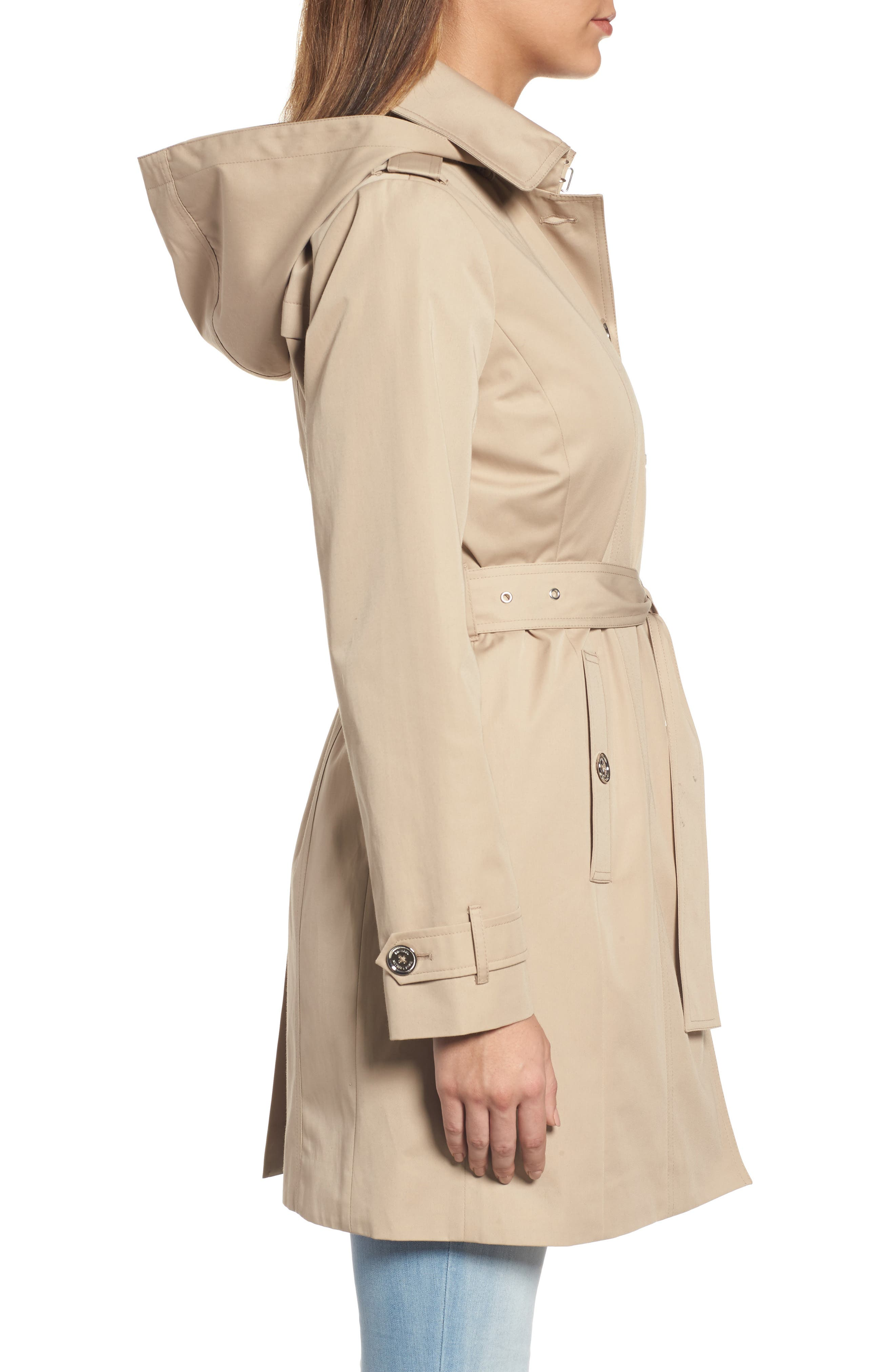 Alternate Image 3  - MICHAEL Michael Kors Core Trench Coat with Removable Hood & Liner (Regular & Petite)