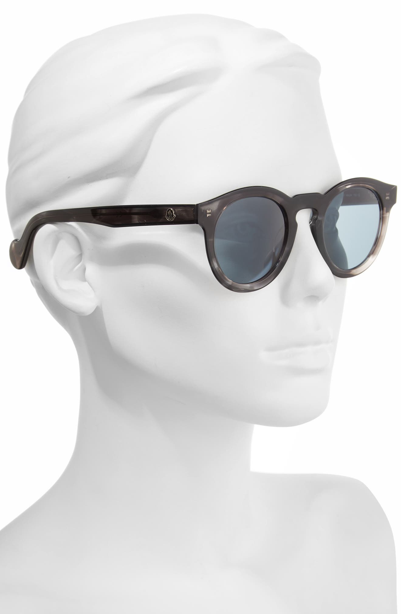 49mm Keyhole Sunglasses,                             Alternate thumbnail 2, color,                             Grey/ Other/ Blue