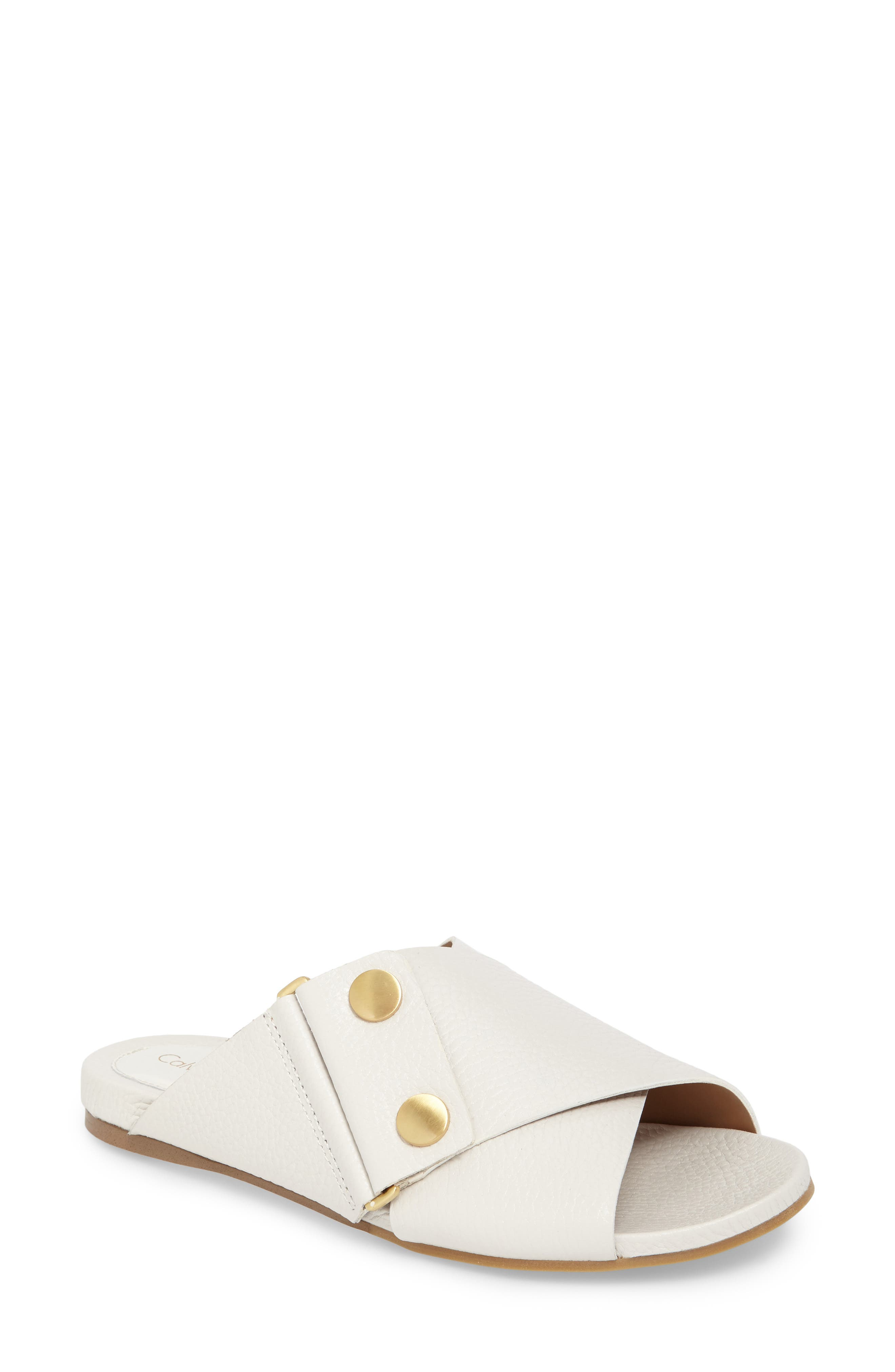 CALVIN KLEIN Pamice Cross Strap Sandal