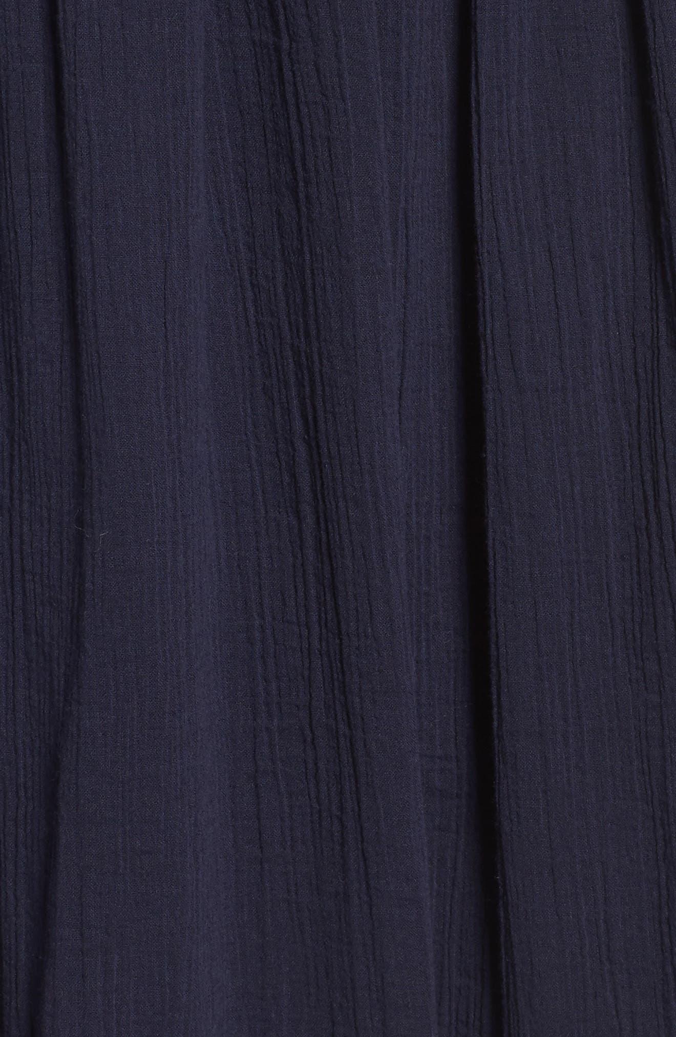 Halter Midi Dress,                             Alternate thumbnail 5, color,                             Navy