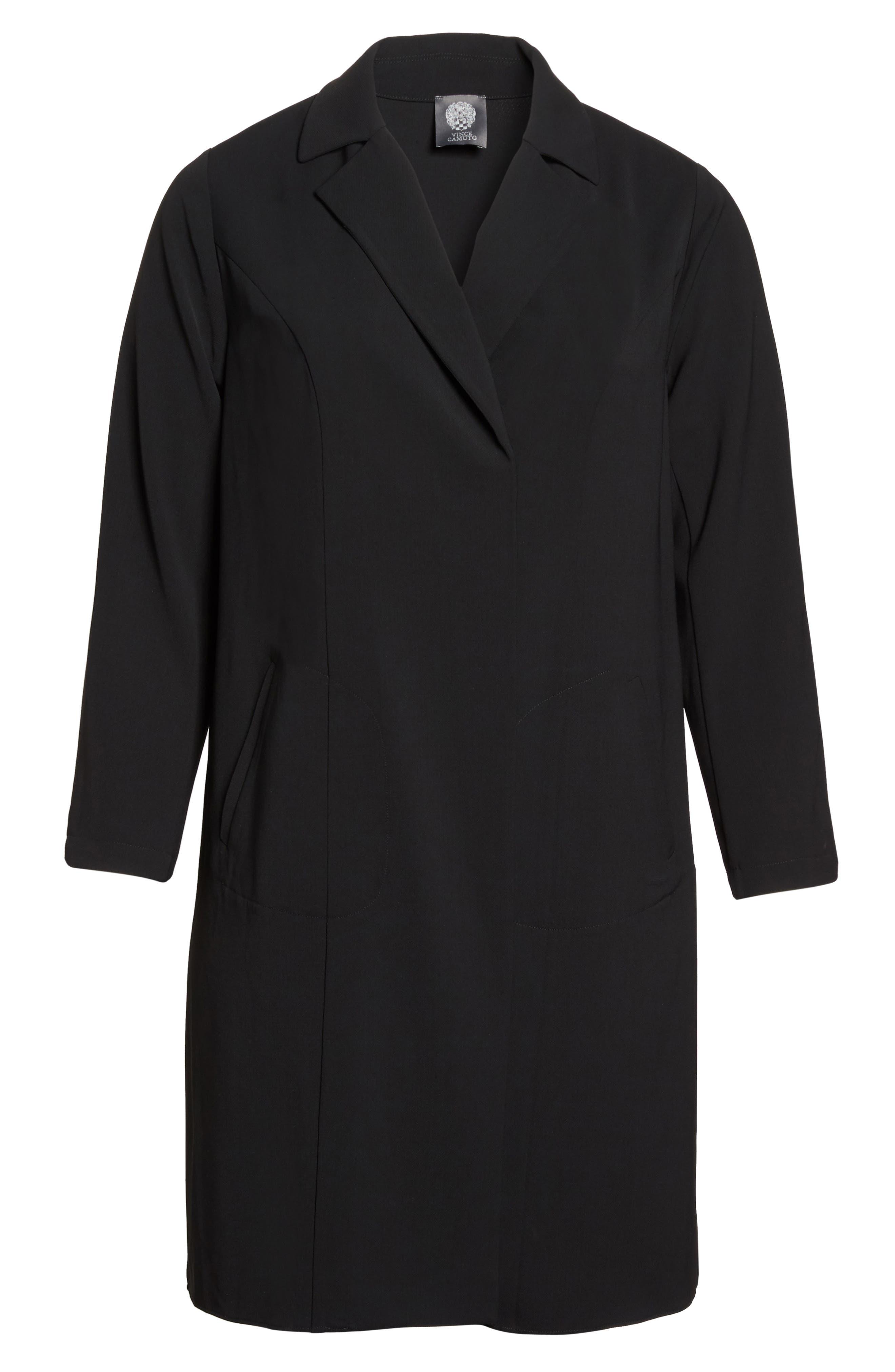 Alternate Image 6  - Vince Camuto Long Jacket (Plus Size)