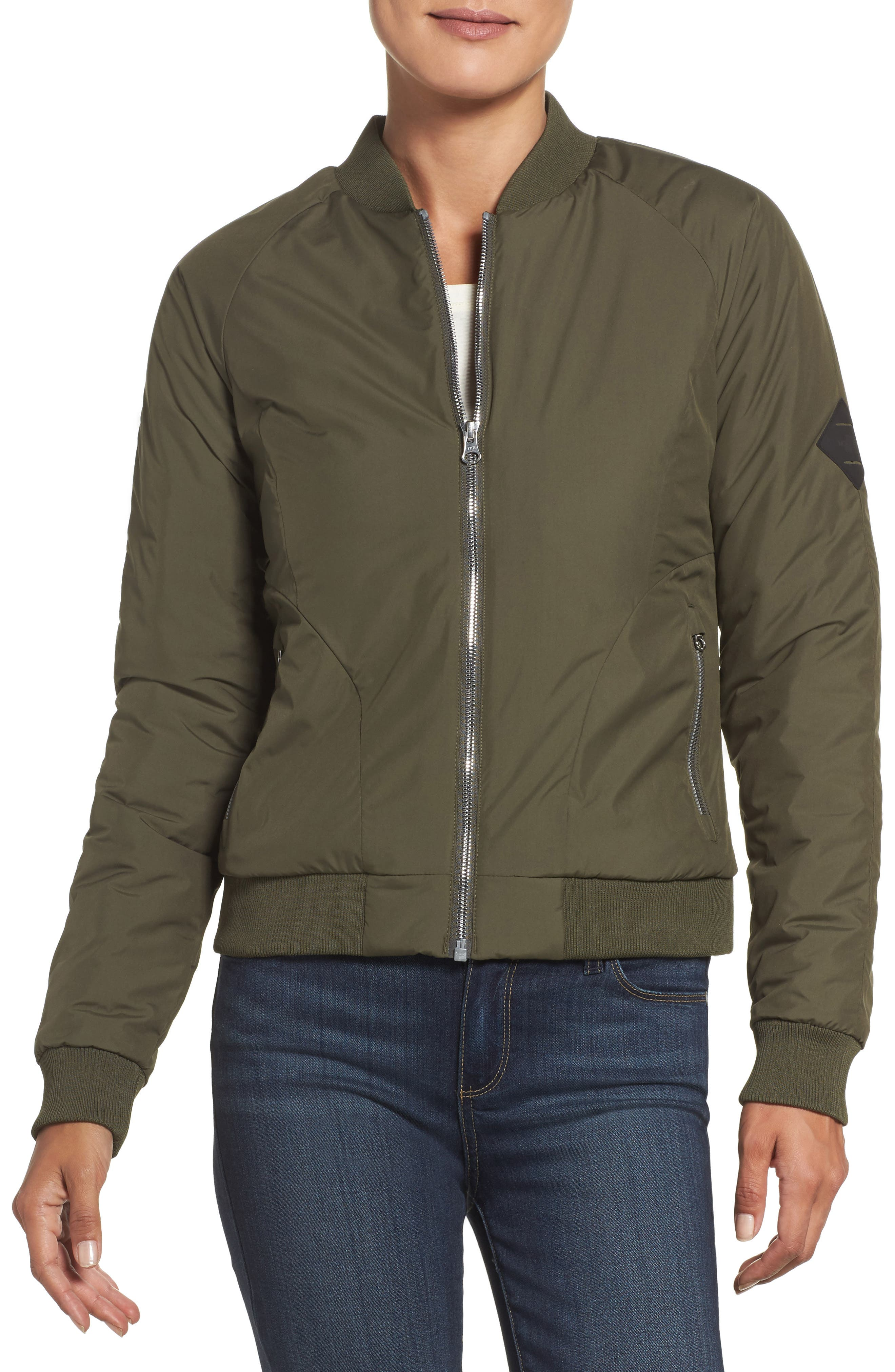 'Rydell' Water Resistant Heatseeker<sup>™</sup> Insulated Bomber Jacket,                         Main,                         color, New Taupe Green