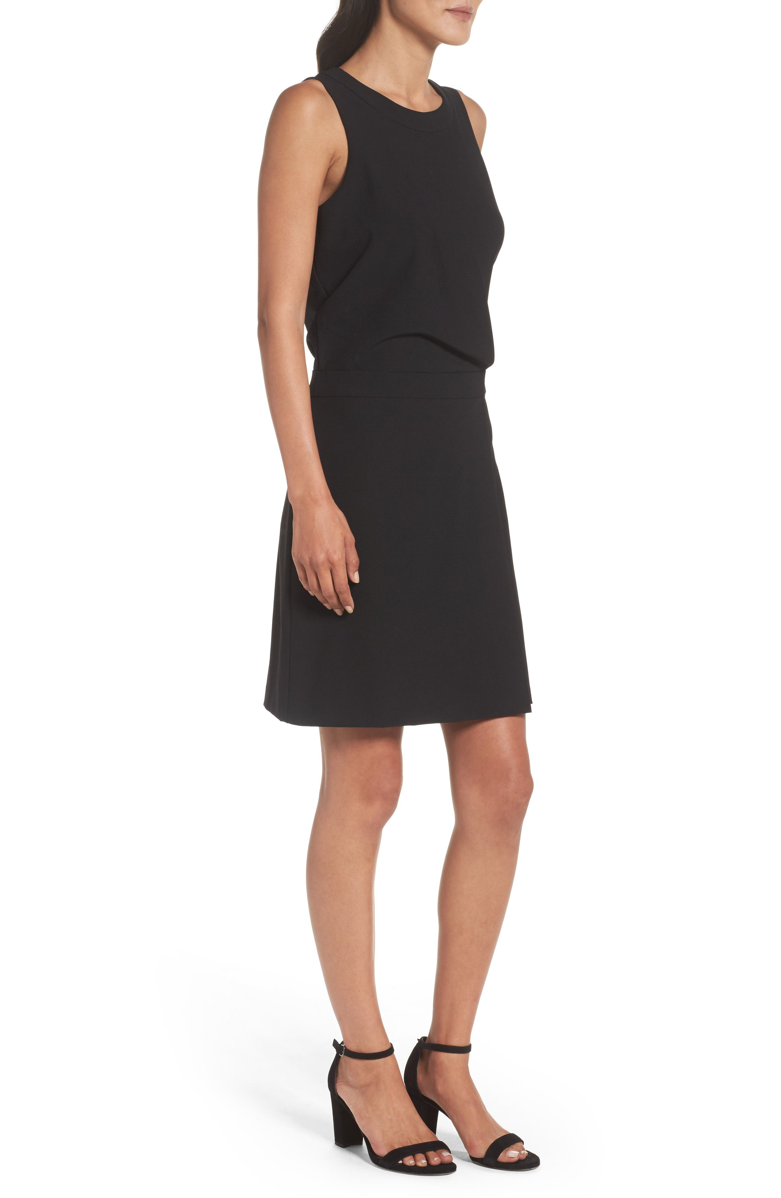 Stretch Sheath Dress,                             Alternate thumbnail 3, color,                             Black