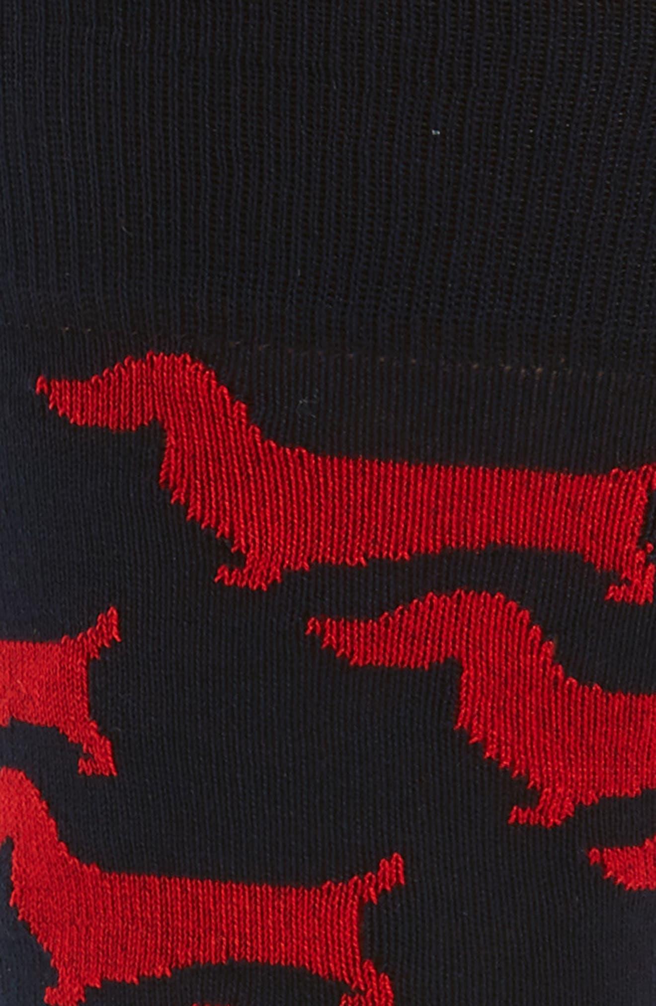 Dog Socks,                             Alternate thumbnail 2, color,                             Black/ Ruby