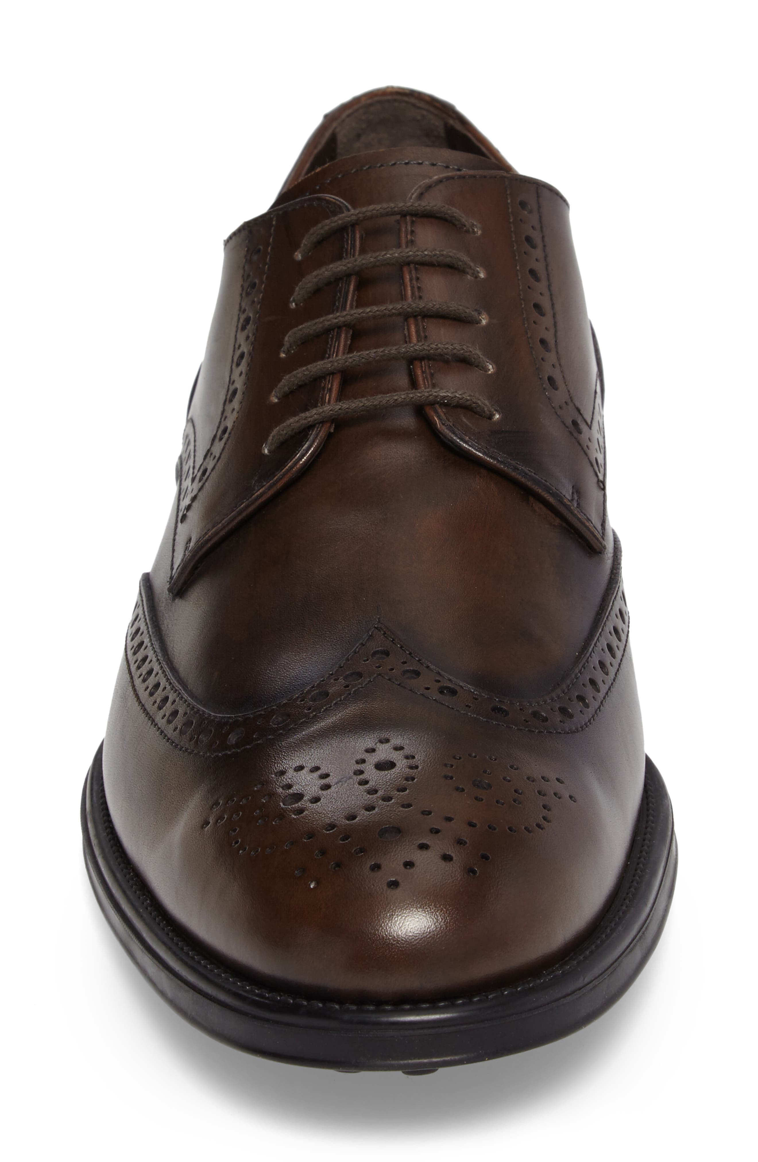 Wingtip,                             Alternate thumbnail 4, color,                             Brown Leather