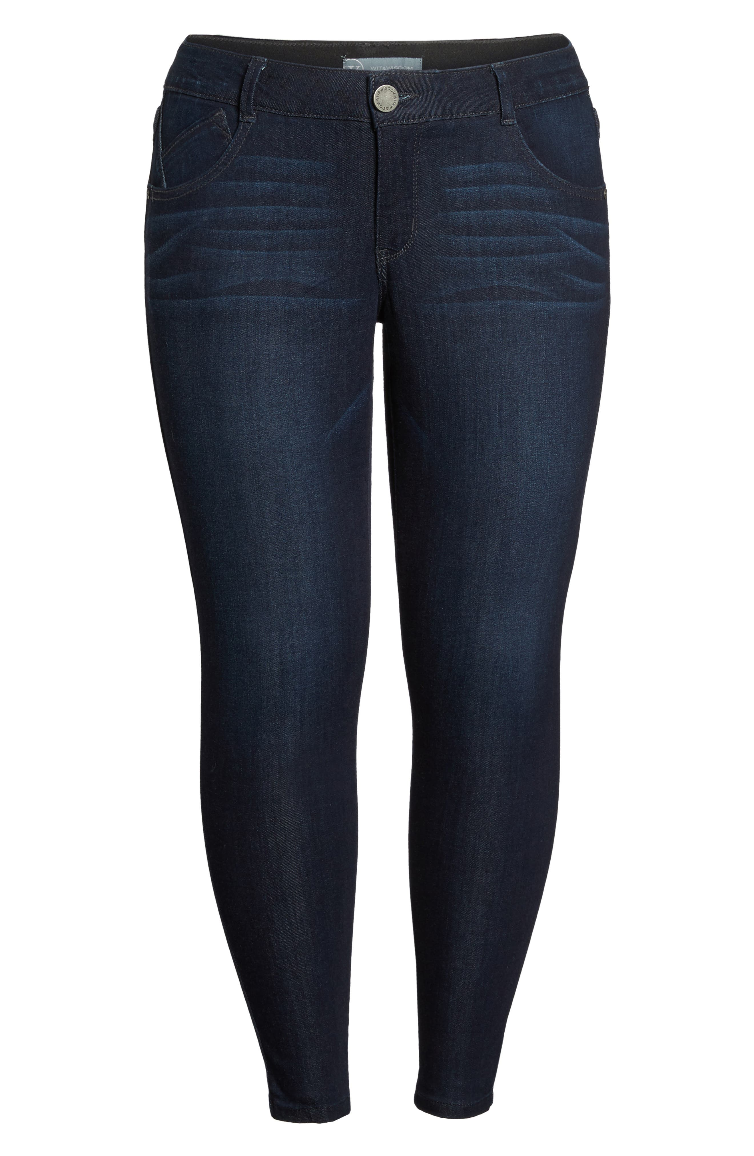 Alternate Image 6  - Wit & Wisdom Ab-solution Ankle Skimmer Jeans (Plus Size) (Nordstrom Exclusive)
