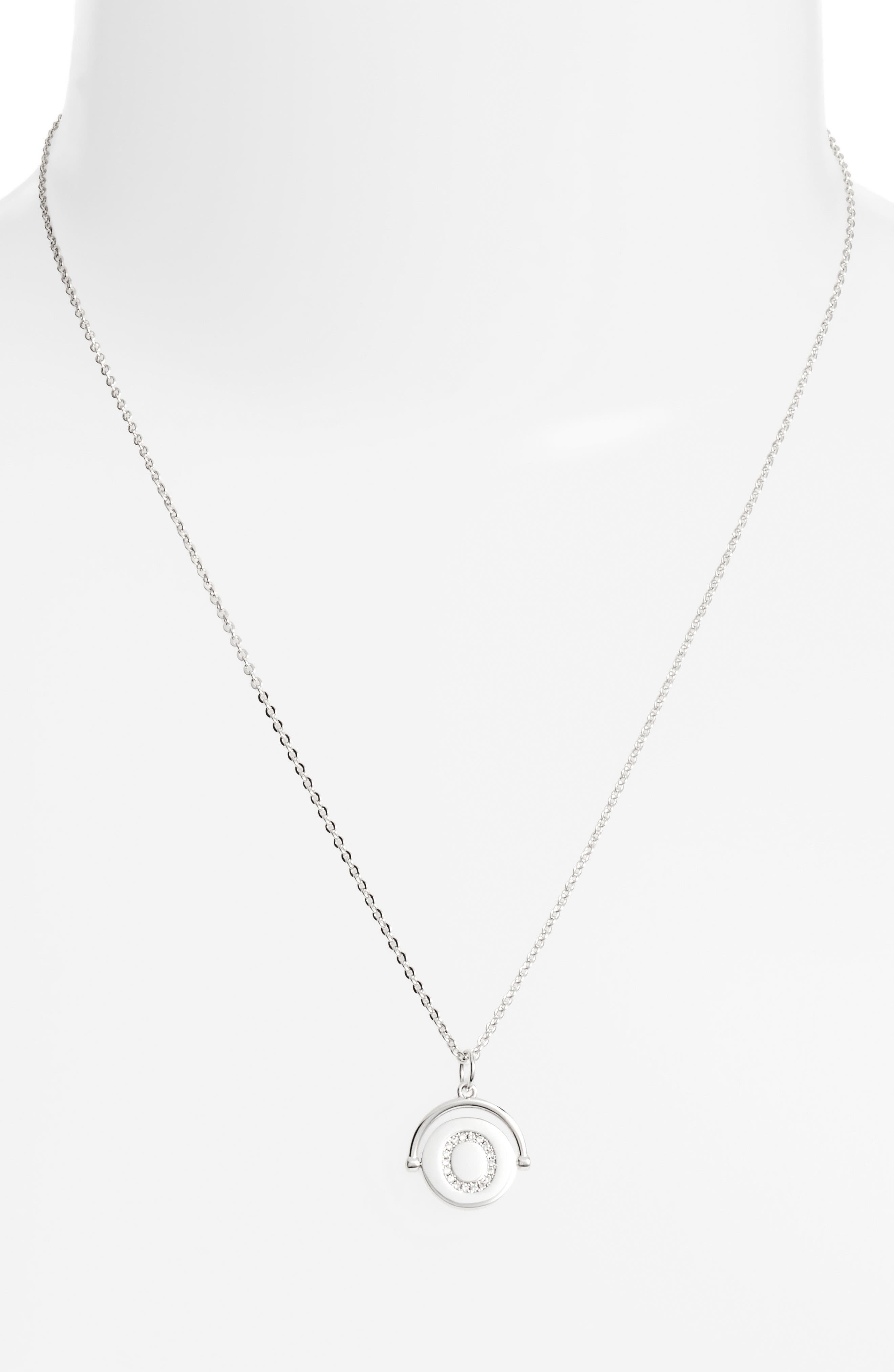 Alternate Image 2  - Lulu DK Love Letters Initial Spinning Pendant Necklace