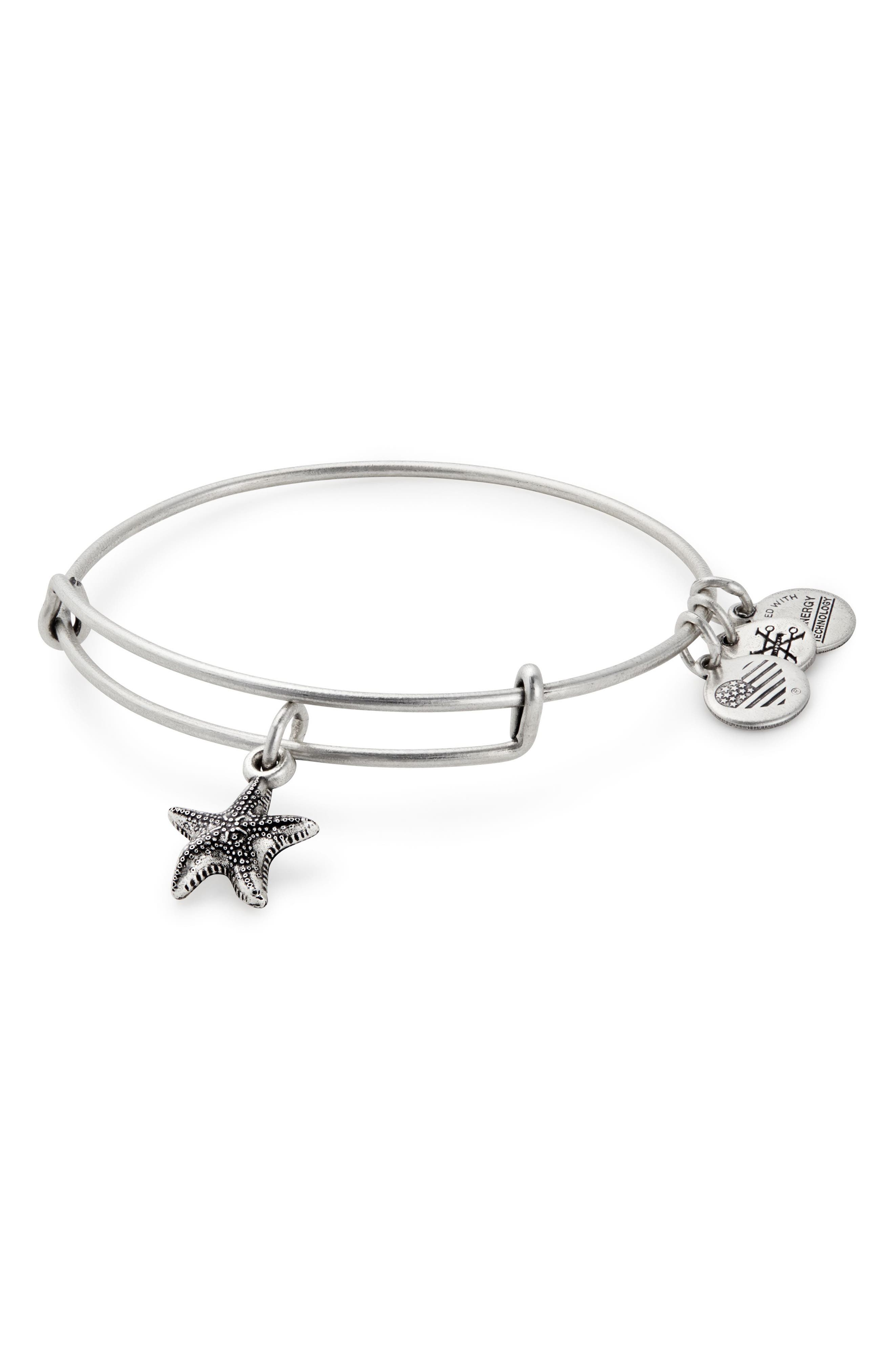 ALEX AND ANI Starfish Adjustable Wire Bangle