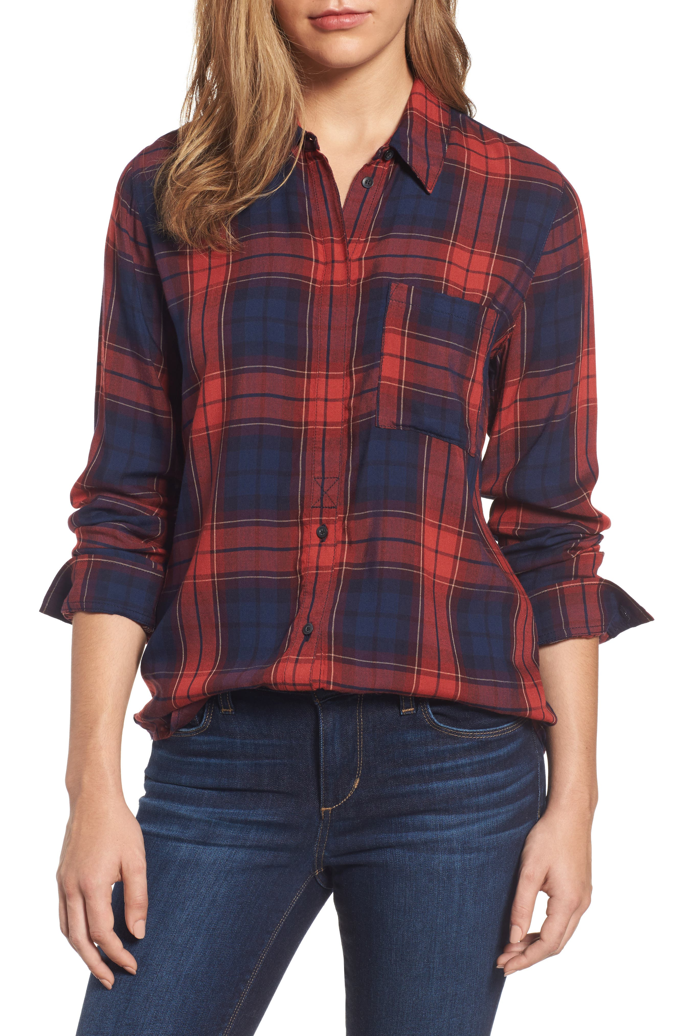 Classic Plaid Shirt,                         Main,                         color, Rust Bossanova Tartan