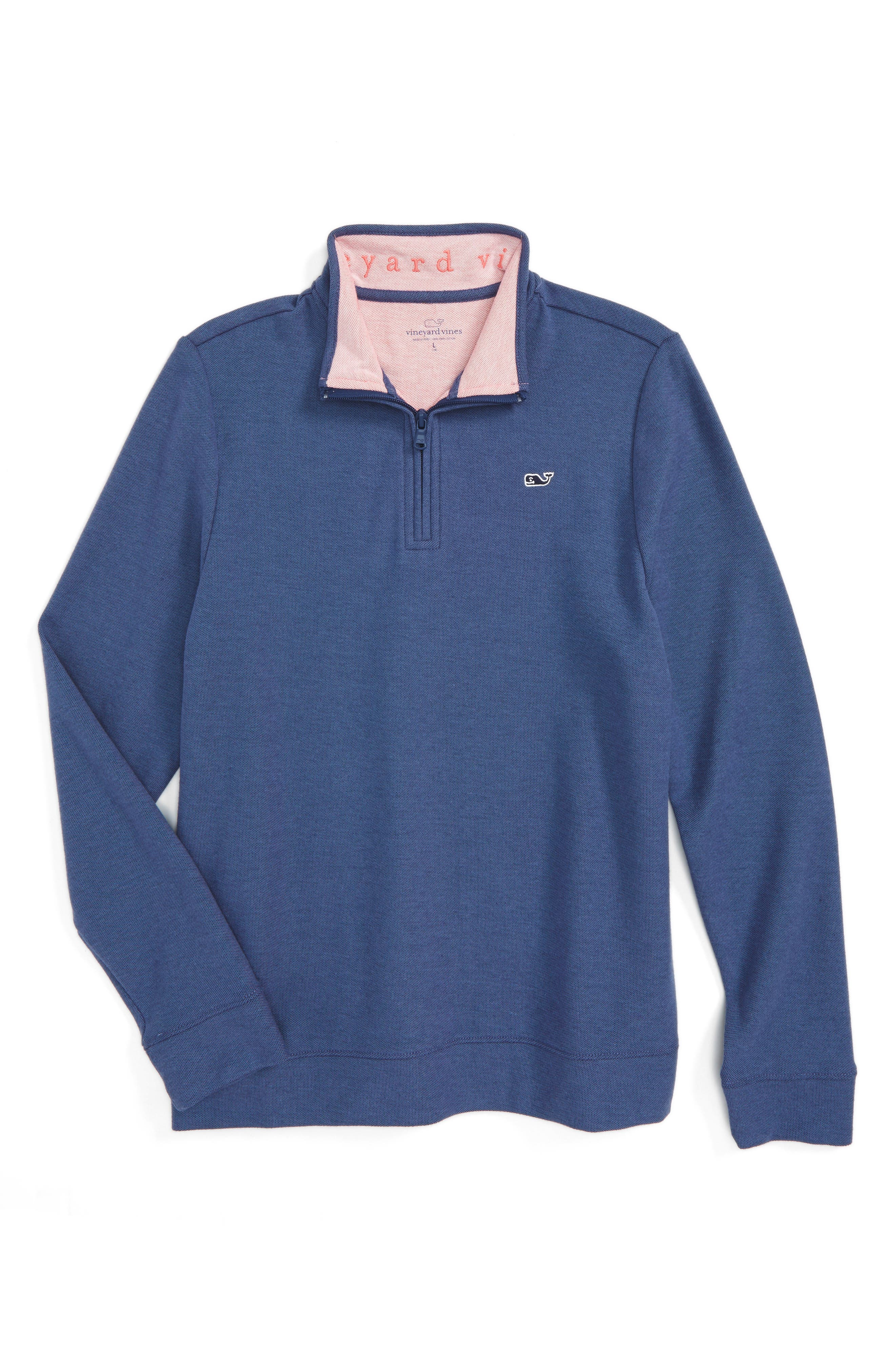 Alternate Image 1 Selected - vineyard vines Quarter Zip Pullover (Big Boys)