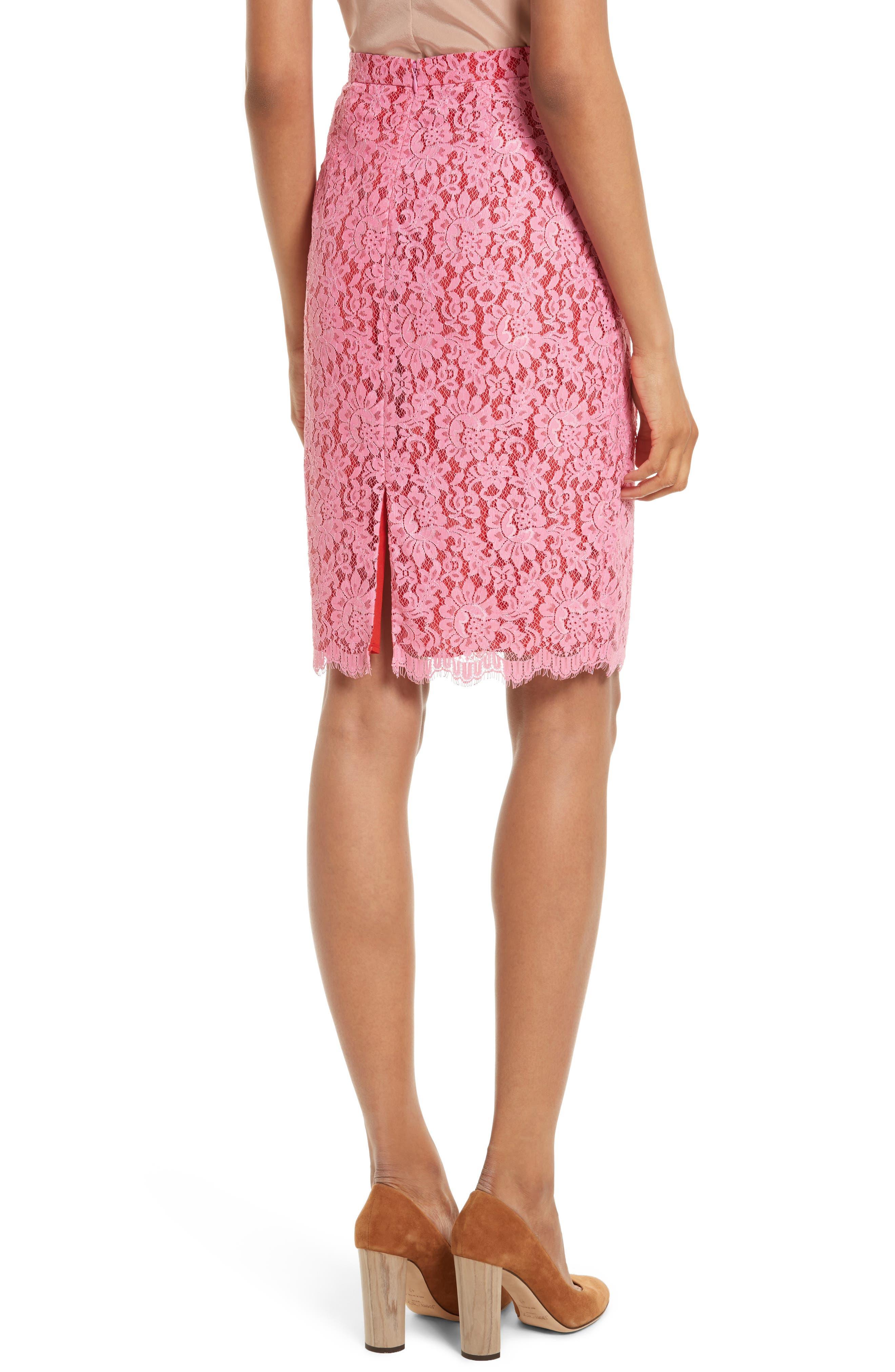 Alternate Image 2  - Diane von Furstenberg Lace Pencil Skirt