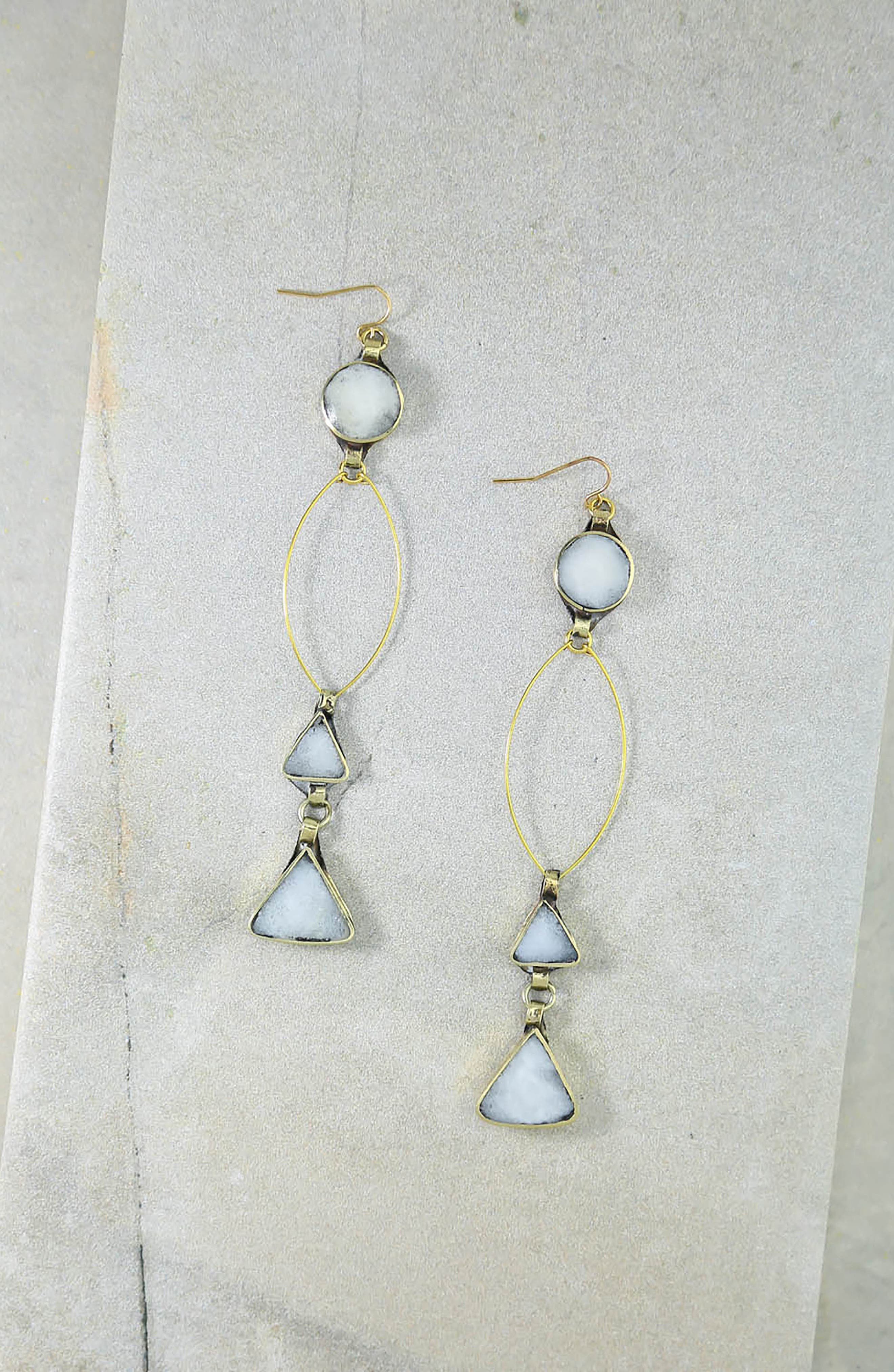 Wynonna Drop Earrings,                             Alternate thumbnail 3, color,                             Gold