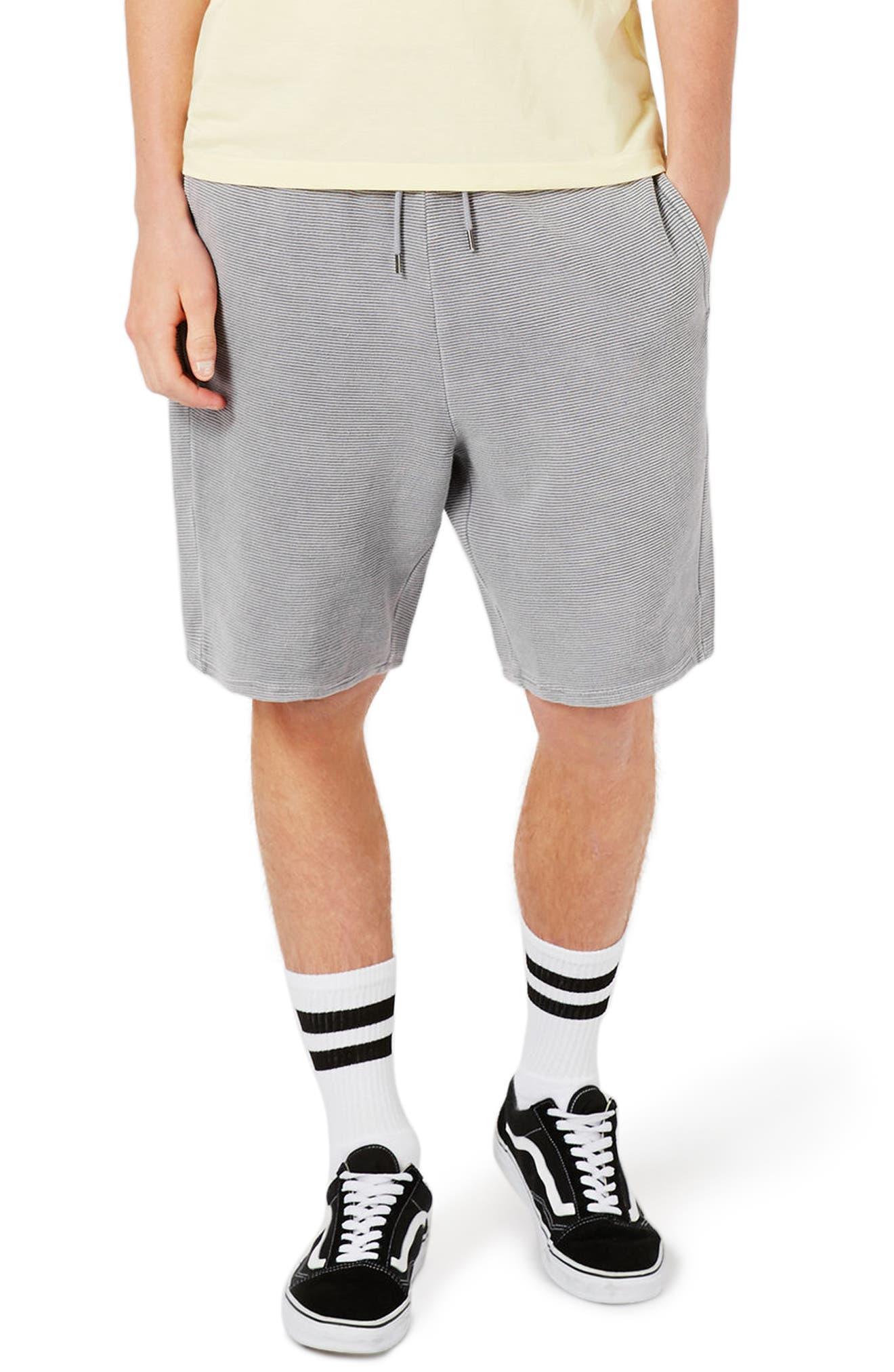 Topman Ottoman Stripe Shorts