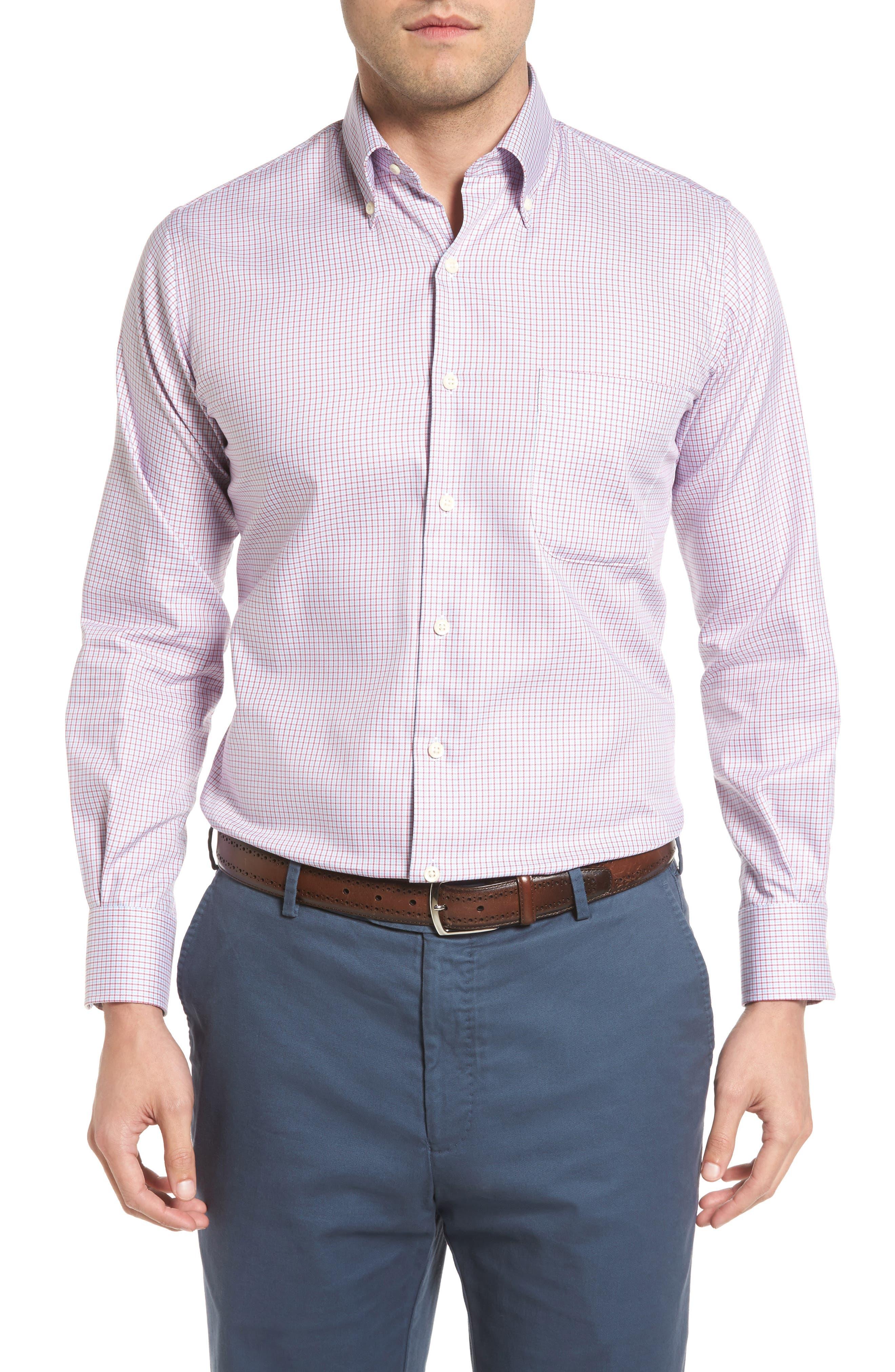 Peter Millar Regular Fit Elevation Puppytooth Sport Shirt