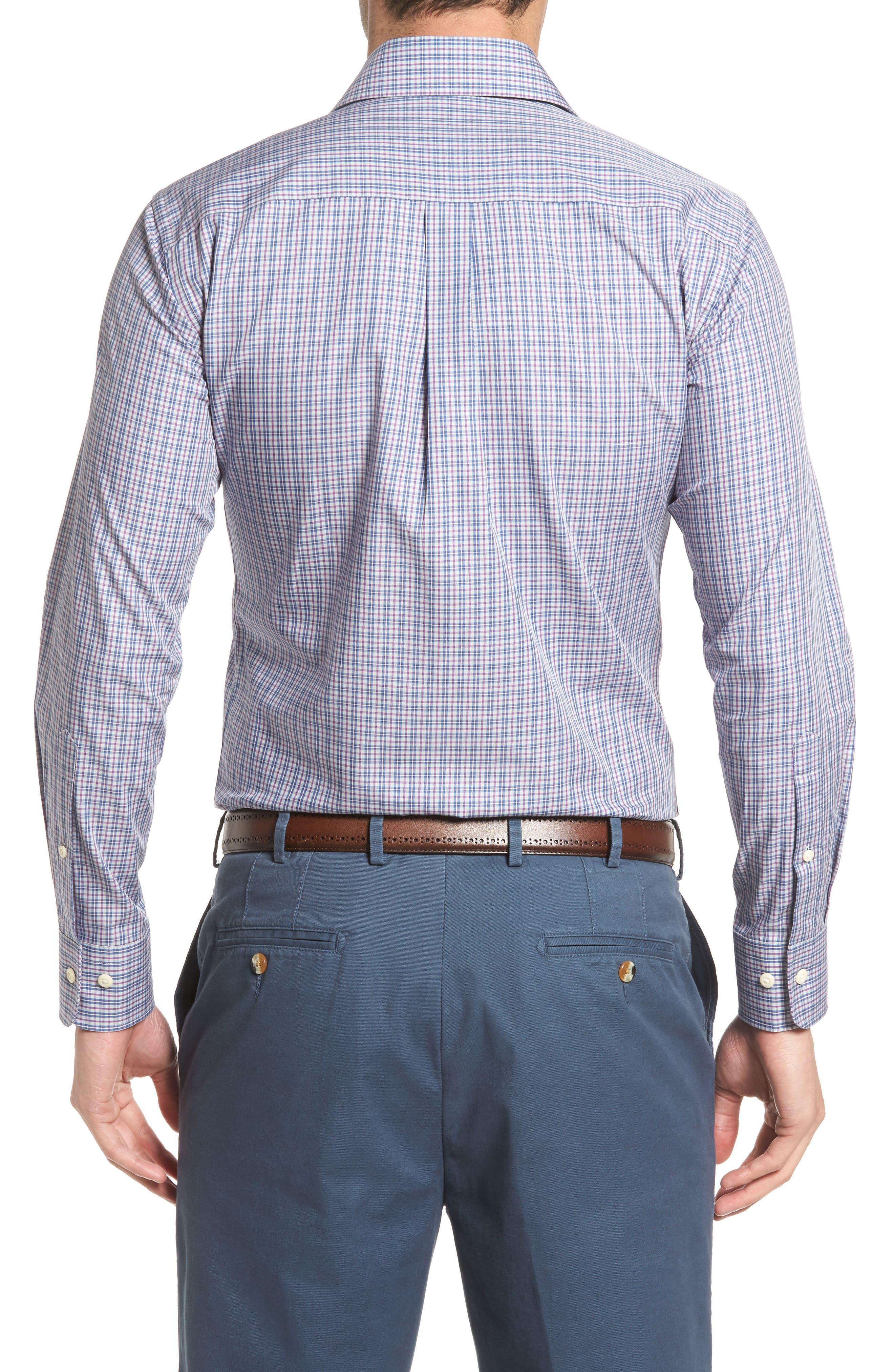 Alternate Image 2  - Peter Millar Hillock Plaid Regular Fit Sport Shirt