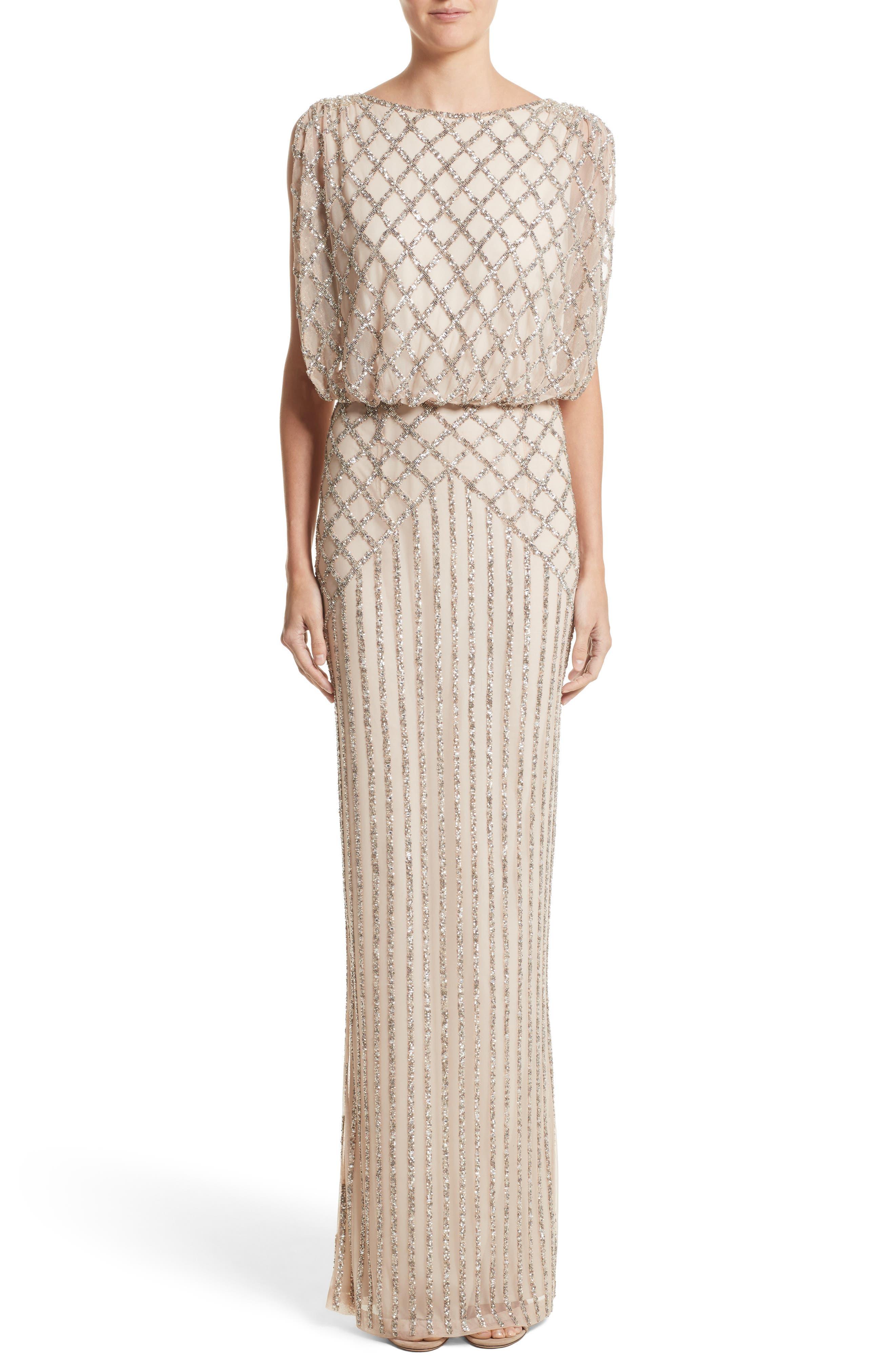 Rachel Gilbert Yuliya Embellished Blouson Gown