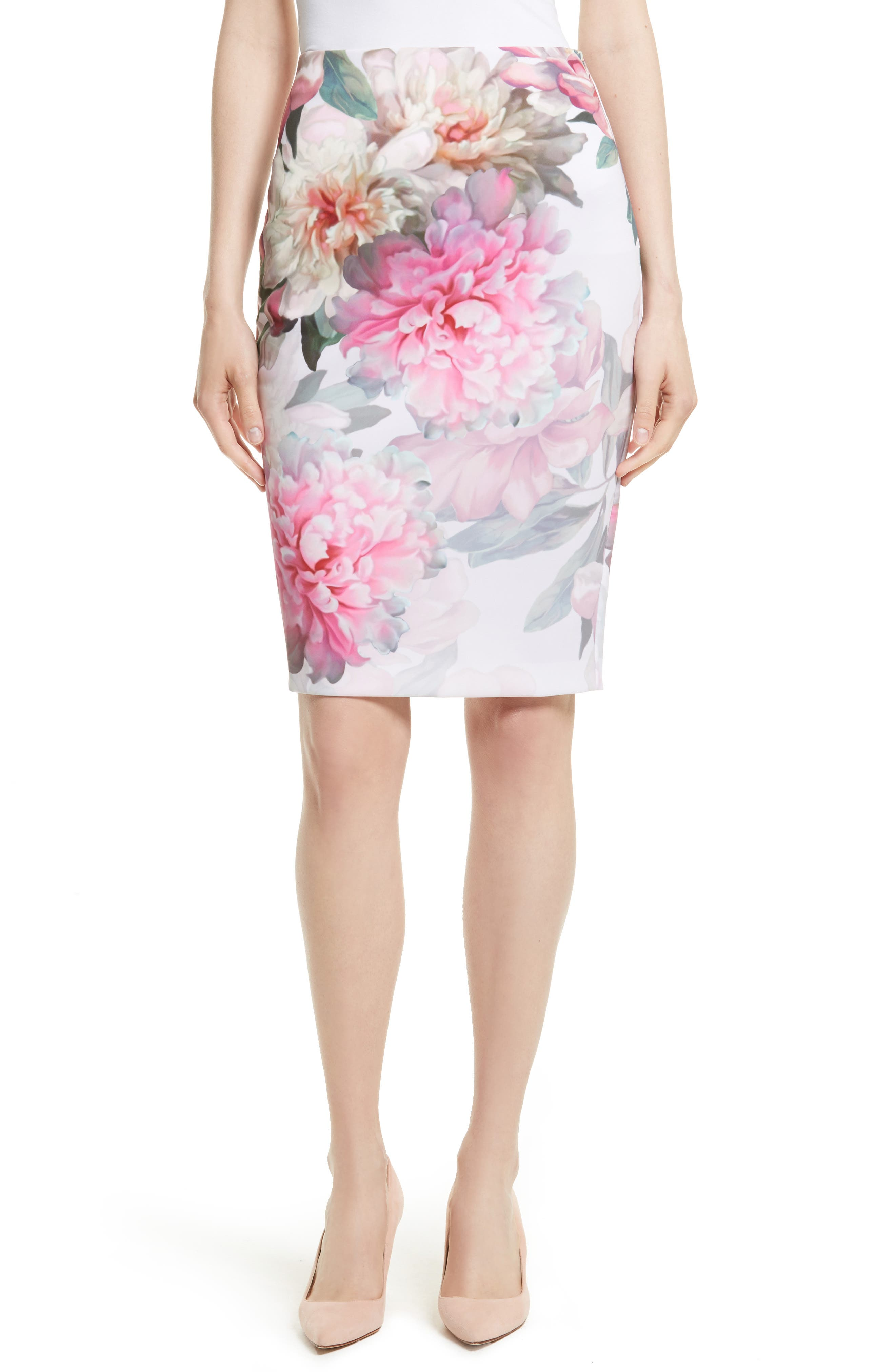 Ted Baker London Melodey Painted Posie Pencil Skirt