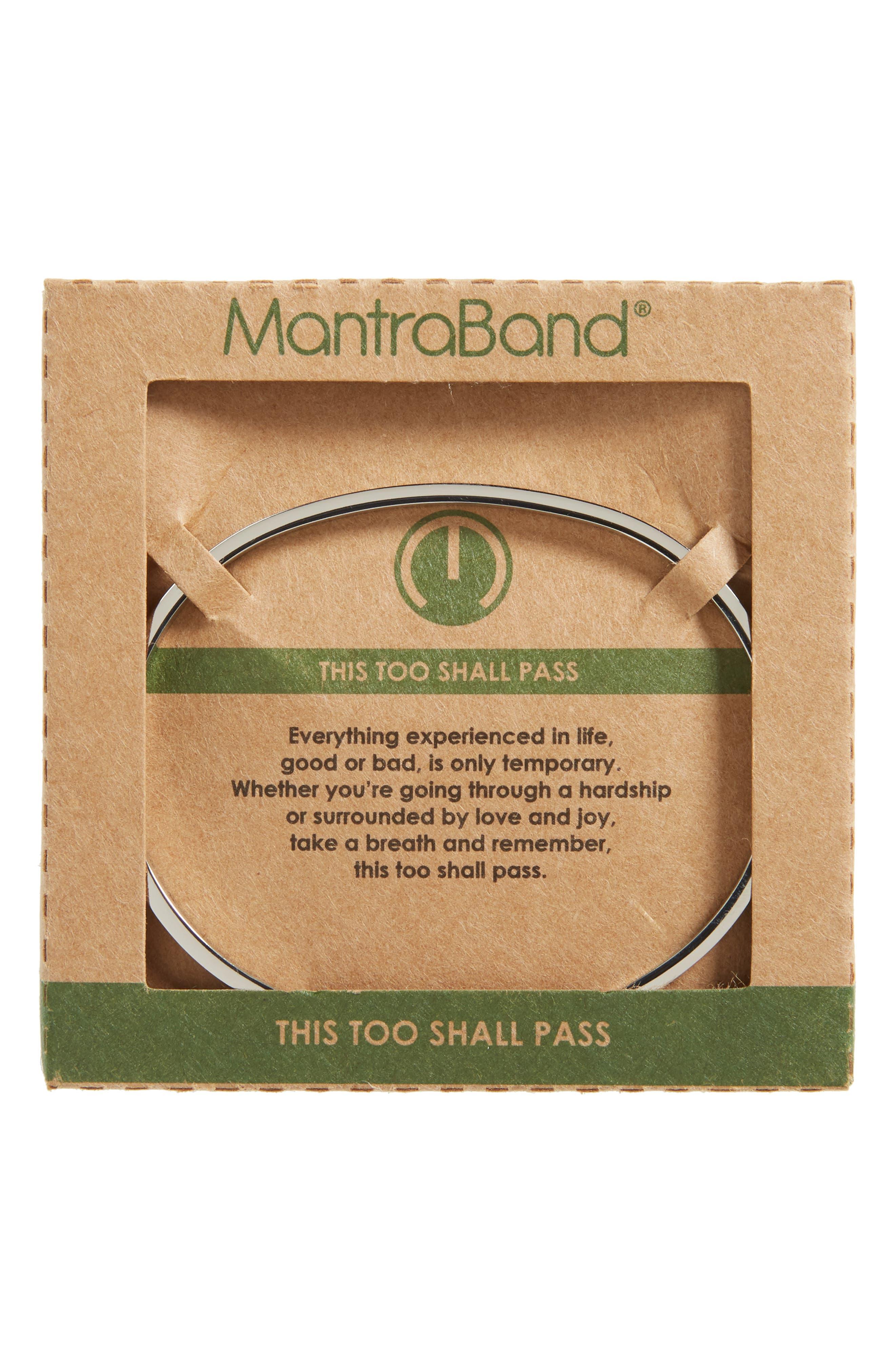 Alternate Image 2  - MantraBand This Too Shall Pass Wrist Cuff