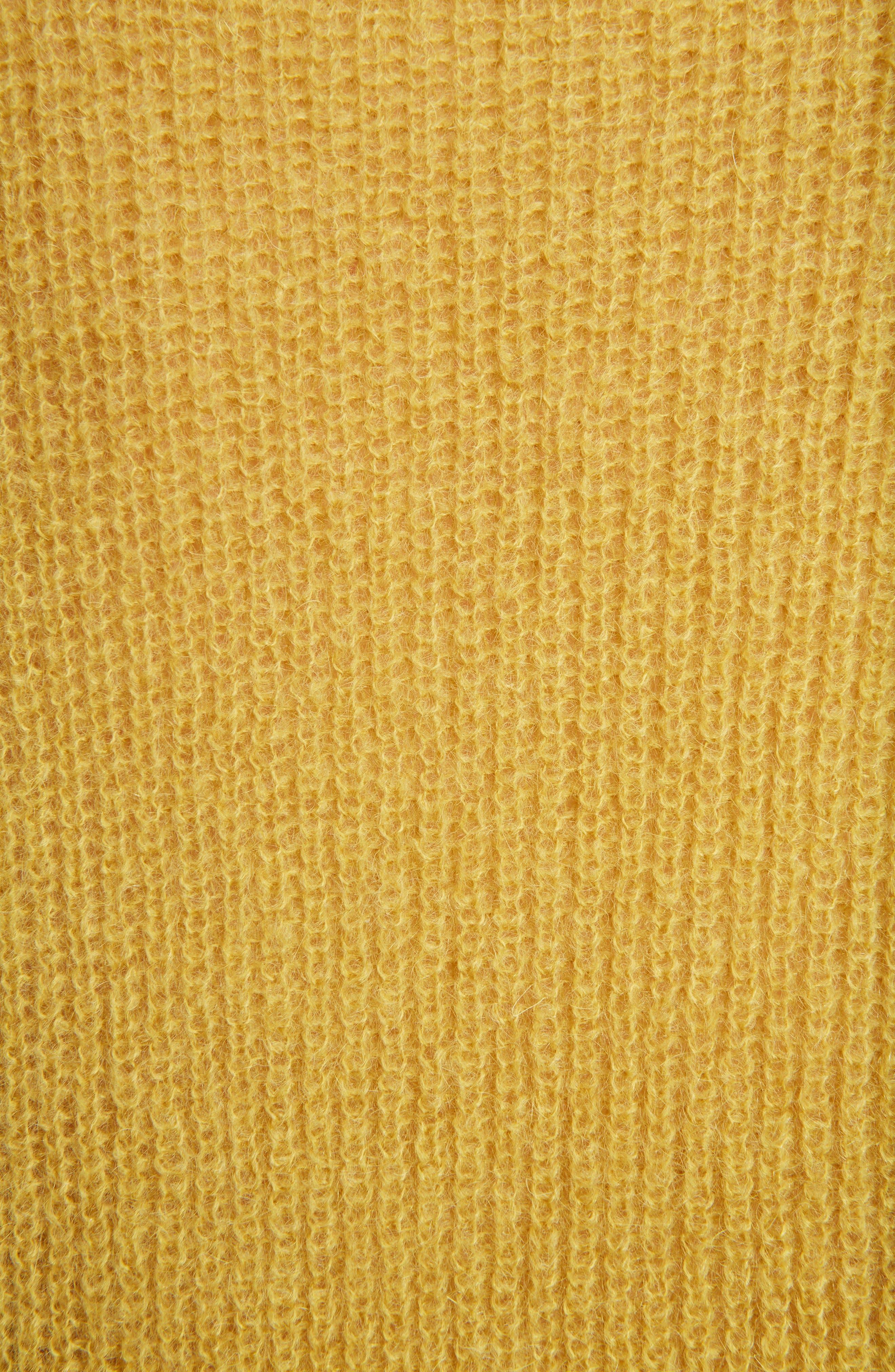 Crewneck Sweater,                             Alternate thumbnail 5, color,                             Honey/Silver