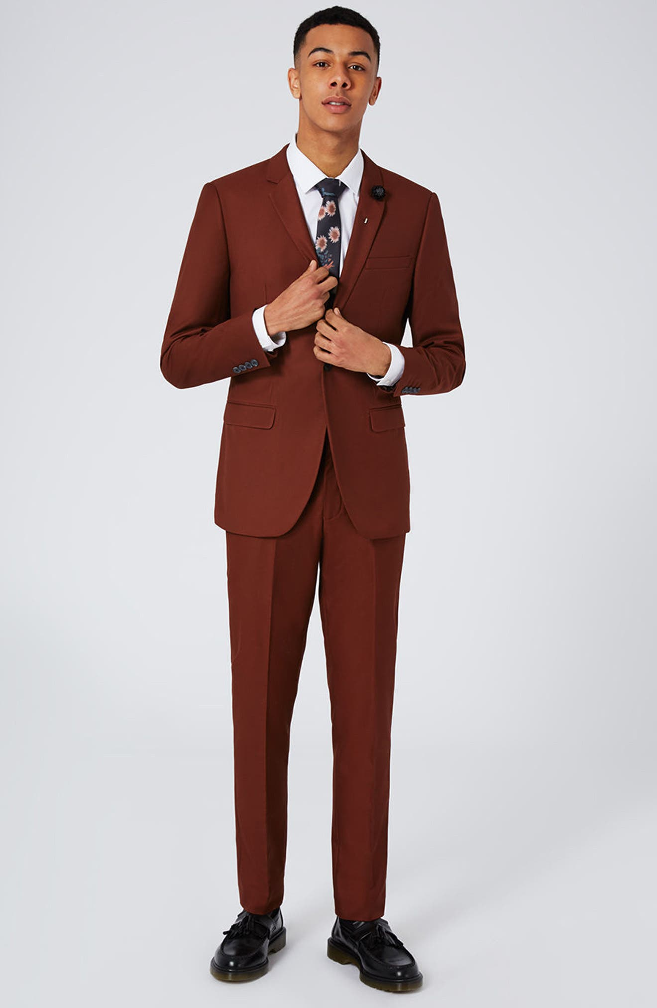 Alternate Image 8  - Topman Skinny Fit Suit Trousers