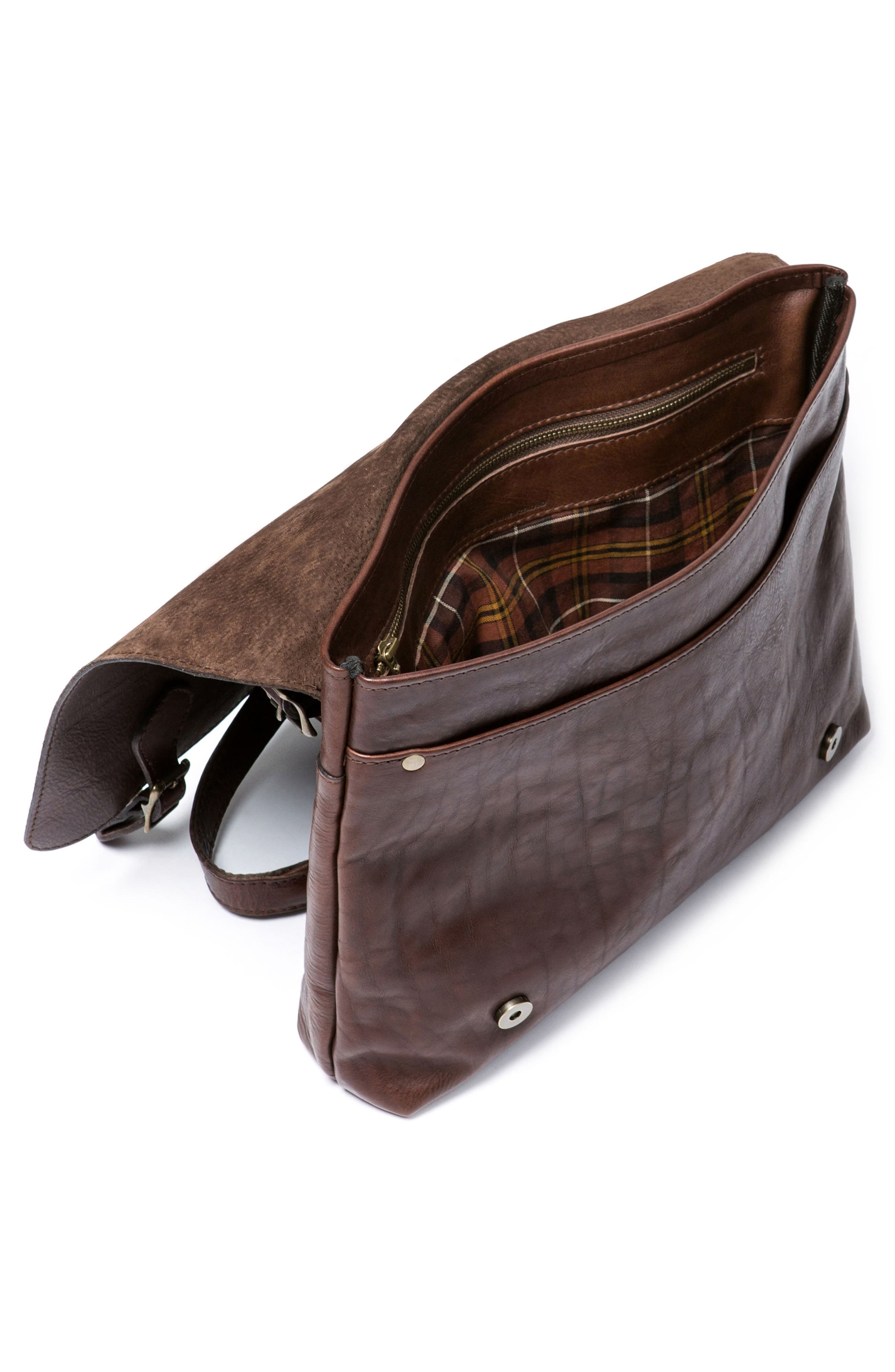 Woodstock Leather Satchel,                             Alternate thumbnail 3, color,                             Cocoa