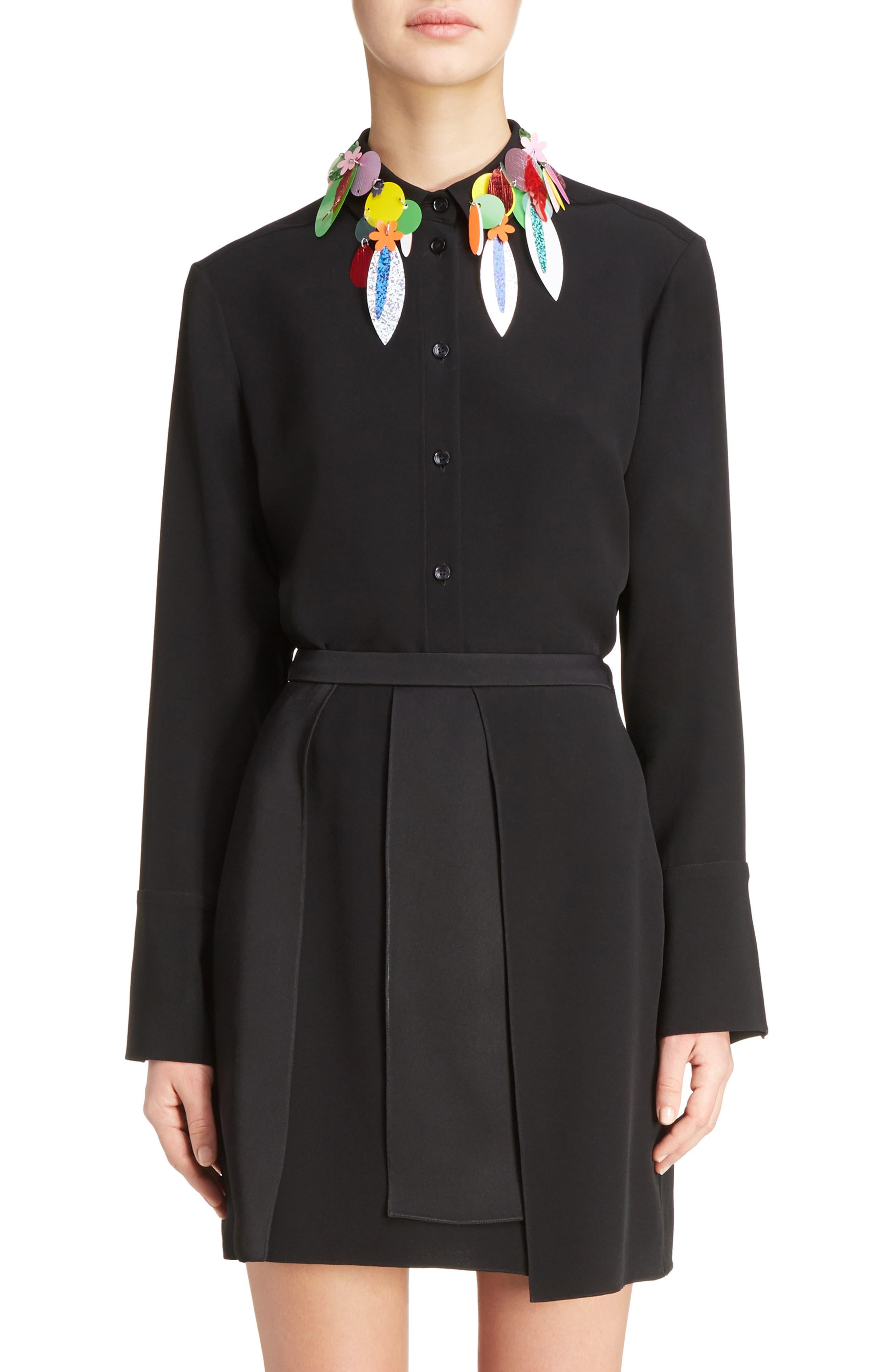 Christopher Kane Sequin Collar Blouse