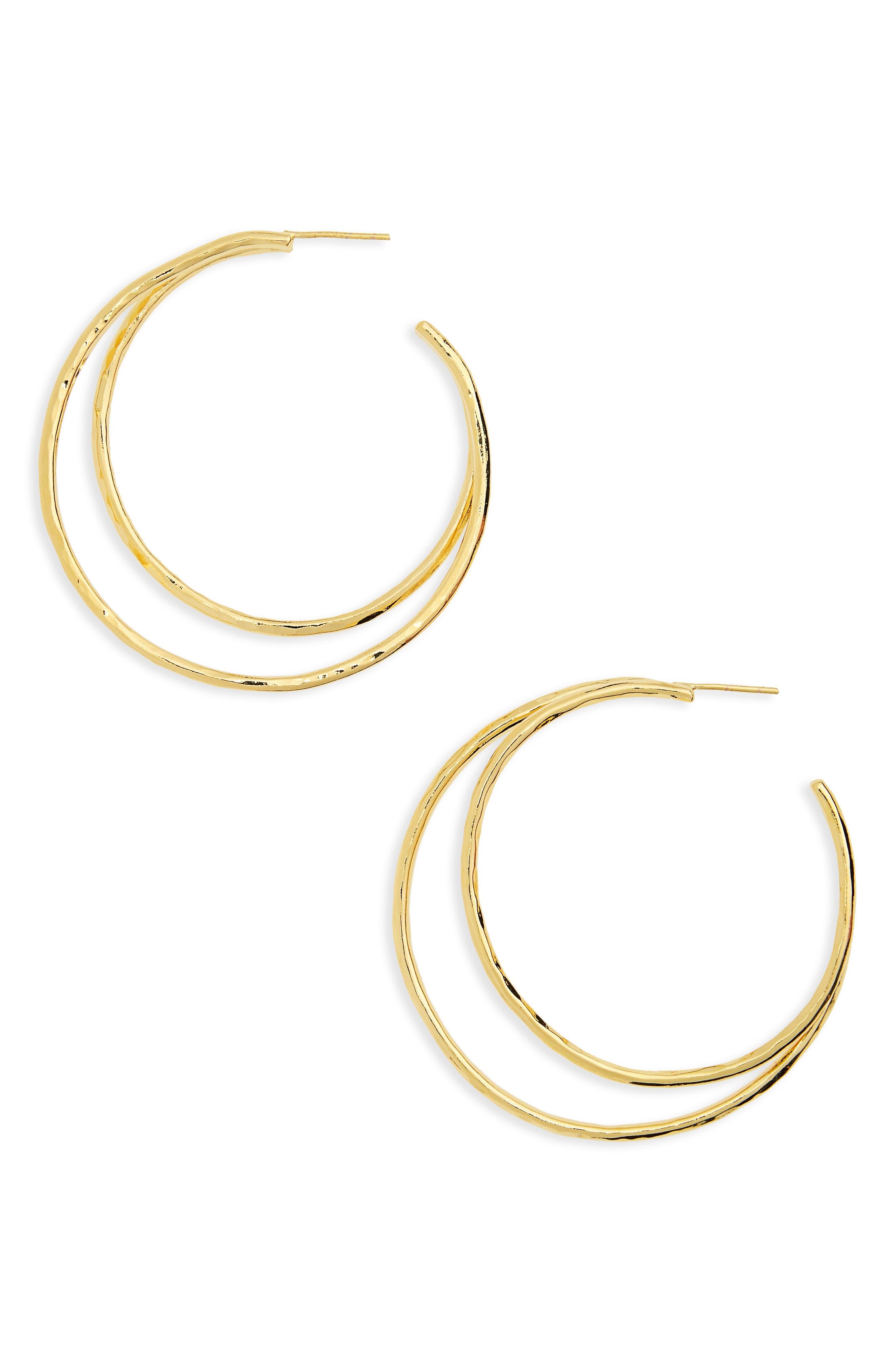Argento Vivo Open Hoop Earrings