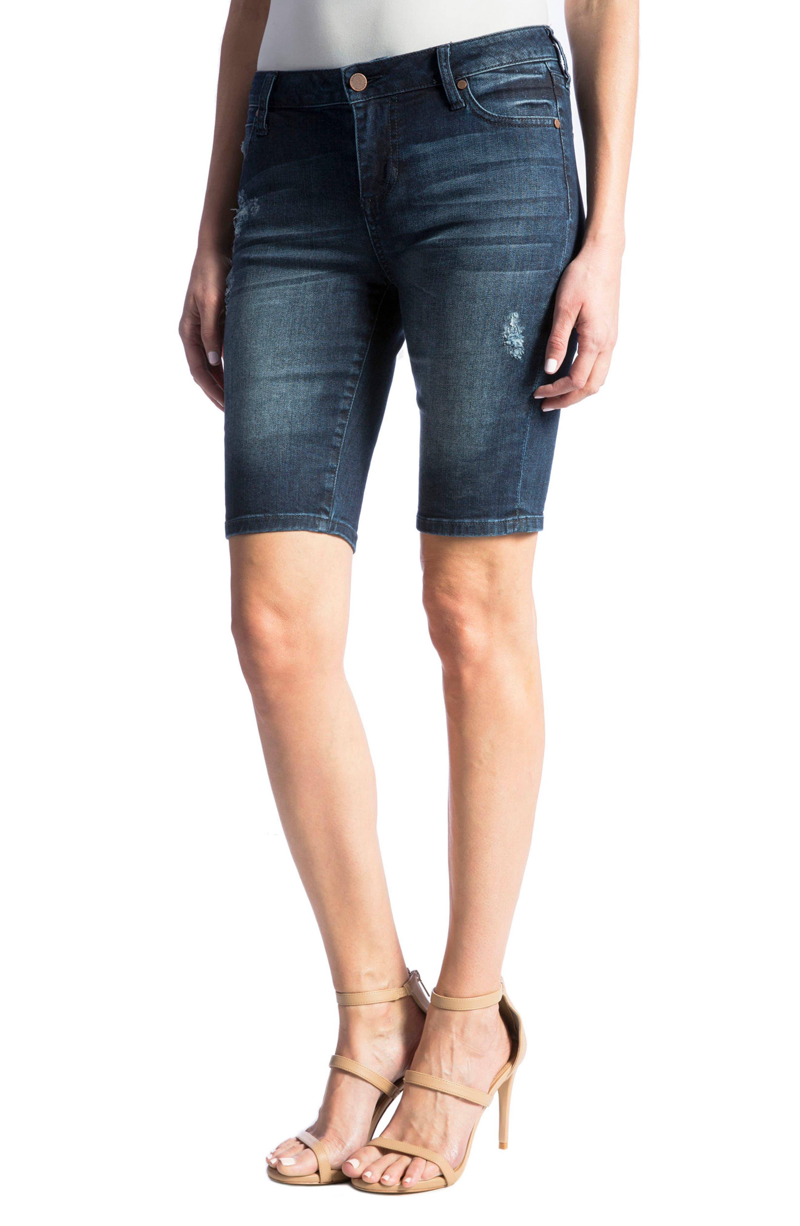 Alternate Image 5  - Liverpool Jeans Company Bobbi Denim Bermuda Shorts