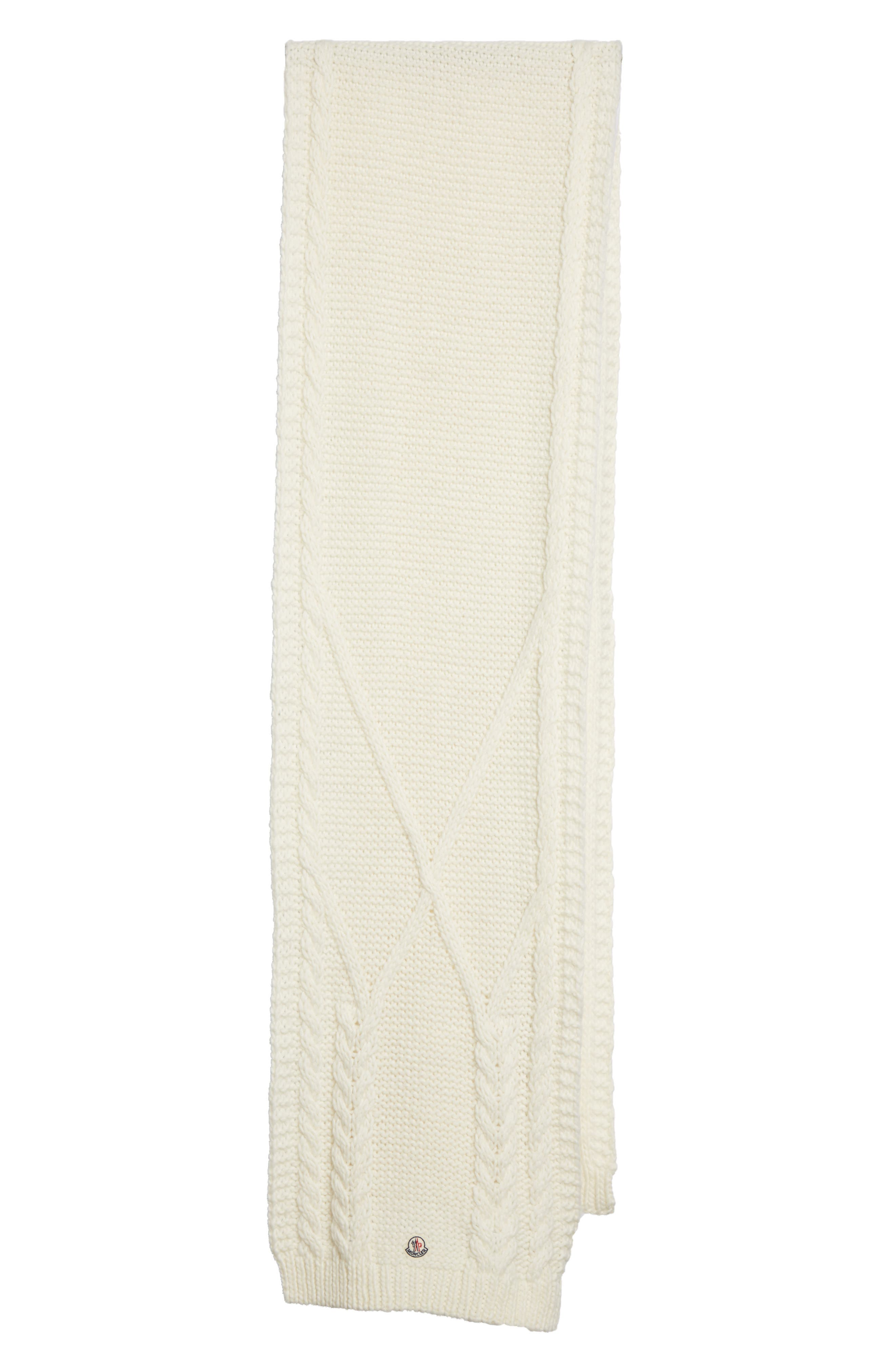 Scarpa Wool Blend Scarf,                             Main thumbnail 1, color,                             Ivory