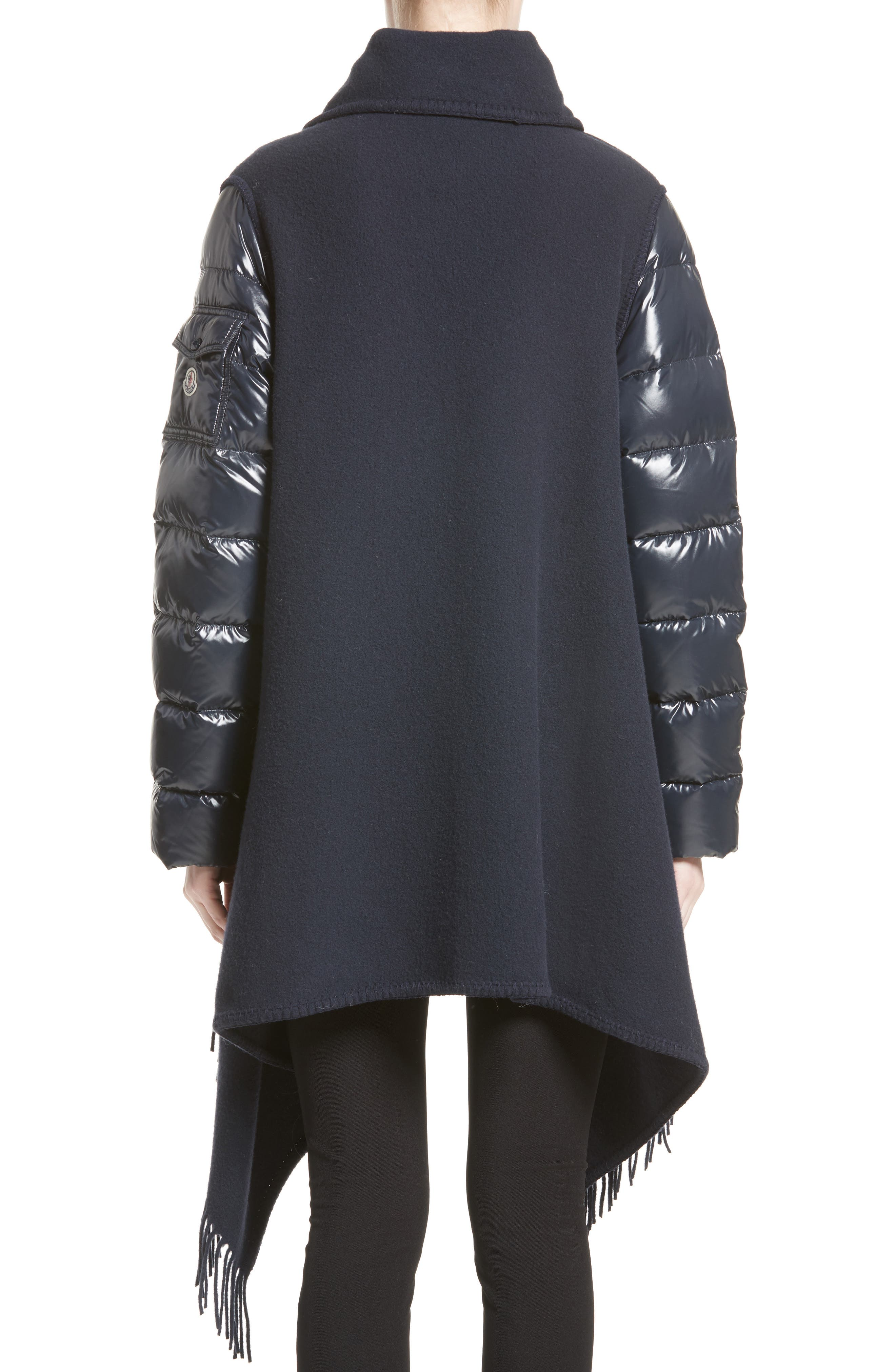 Alternate Image 2  - Moncler Mantella Quilted Sleeve Wrap Sweater