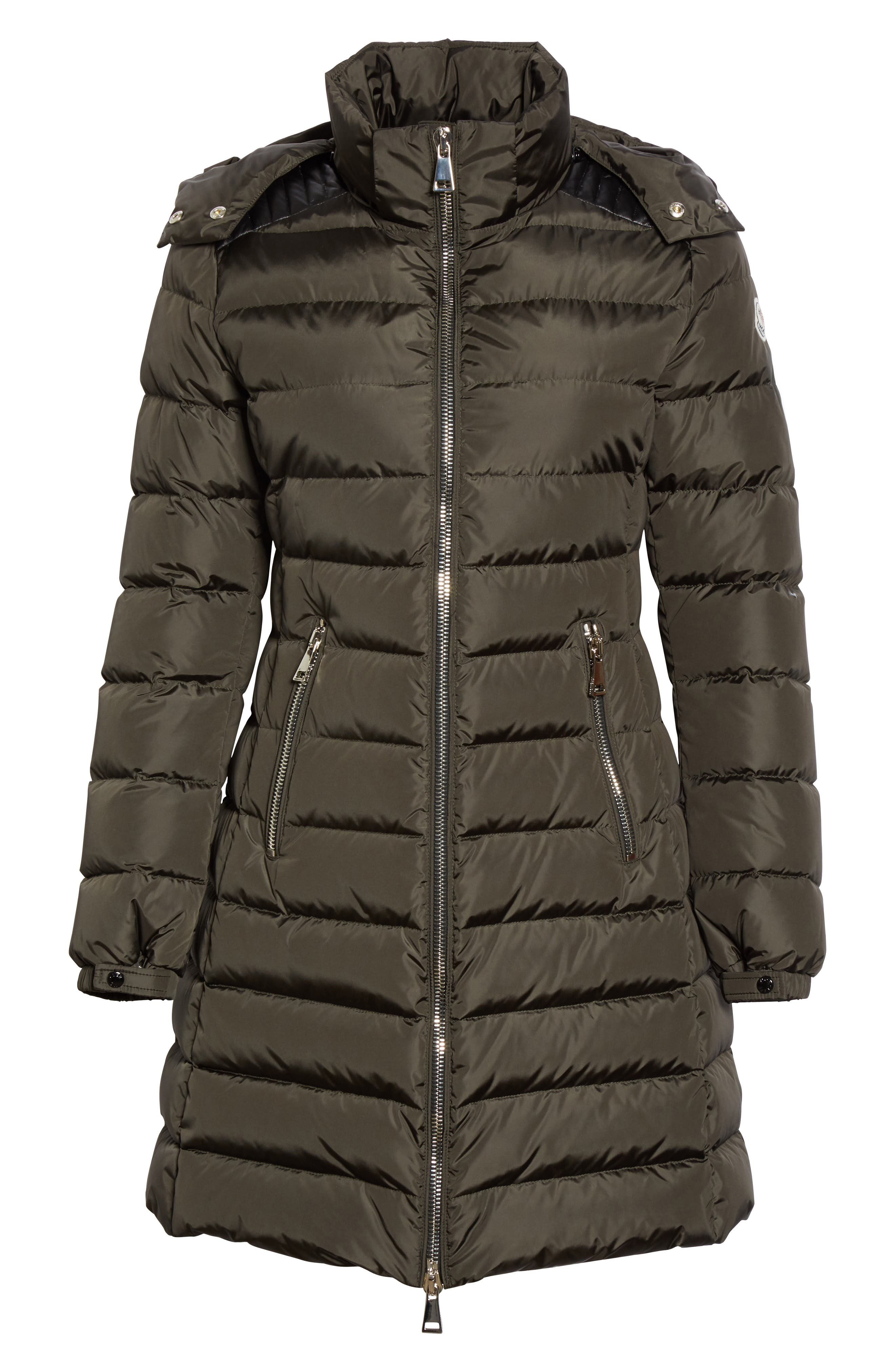 Orophin Hooded Down Puffer Coat,                             Alternate thumbnail 4, color,                             Olive