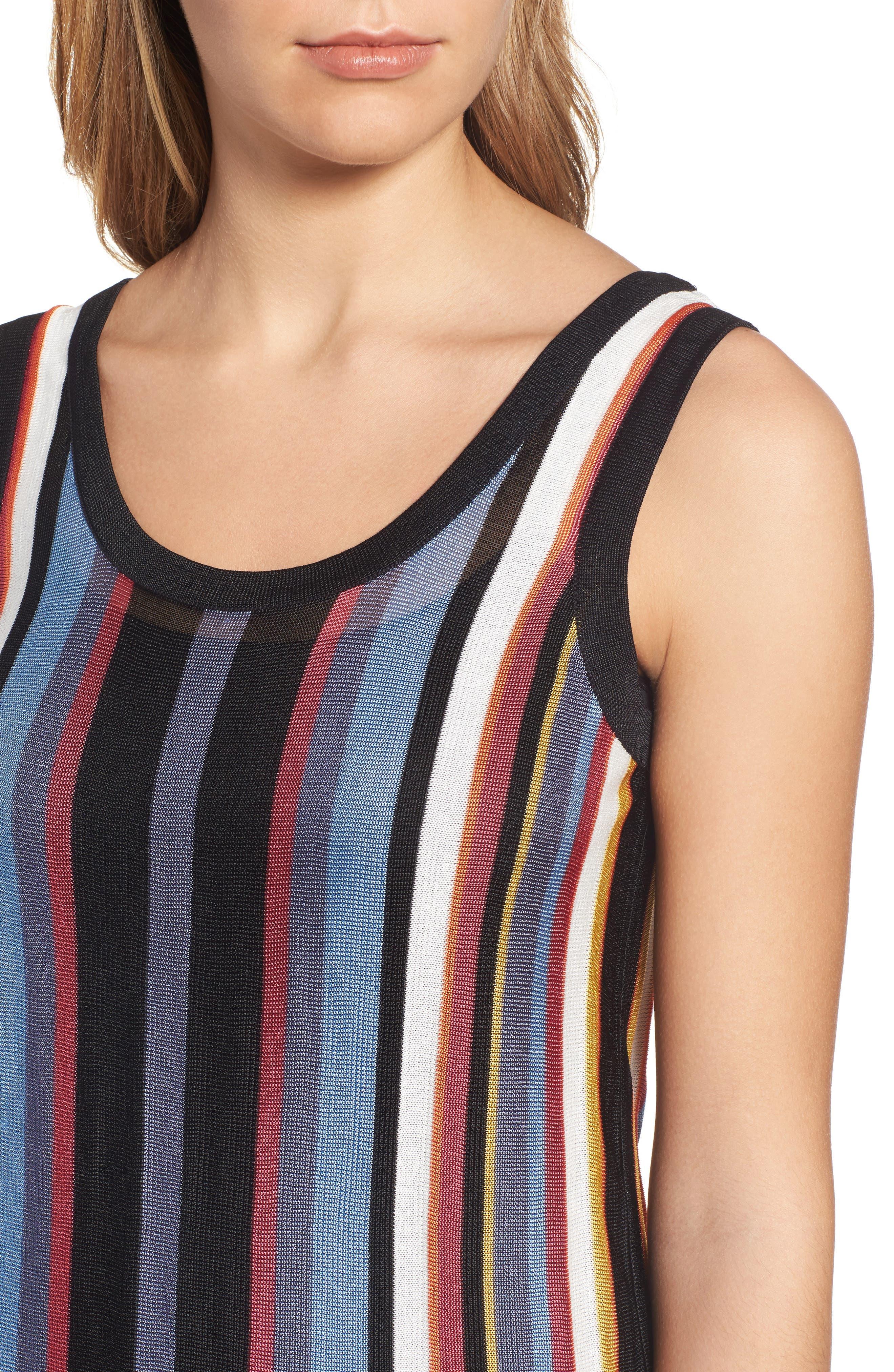 Alternate Image 4  - Anne Klein Stripe Sweater Tank