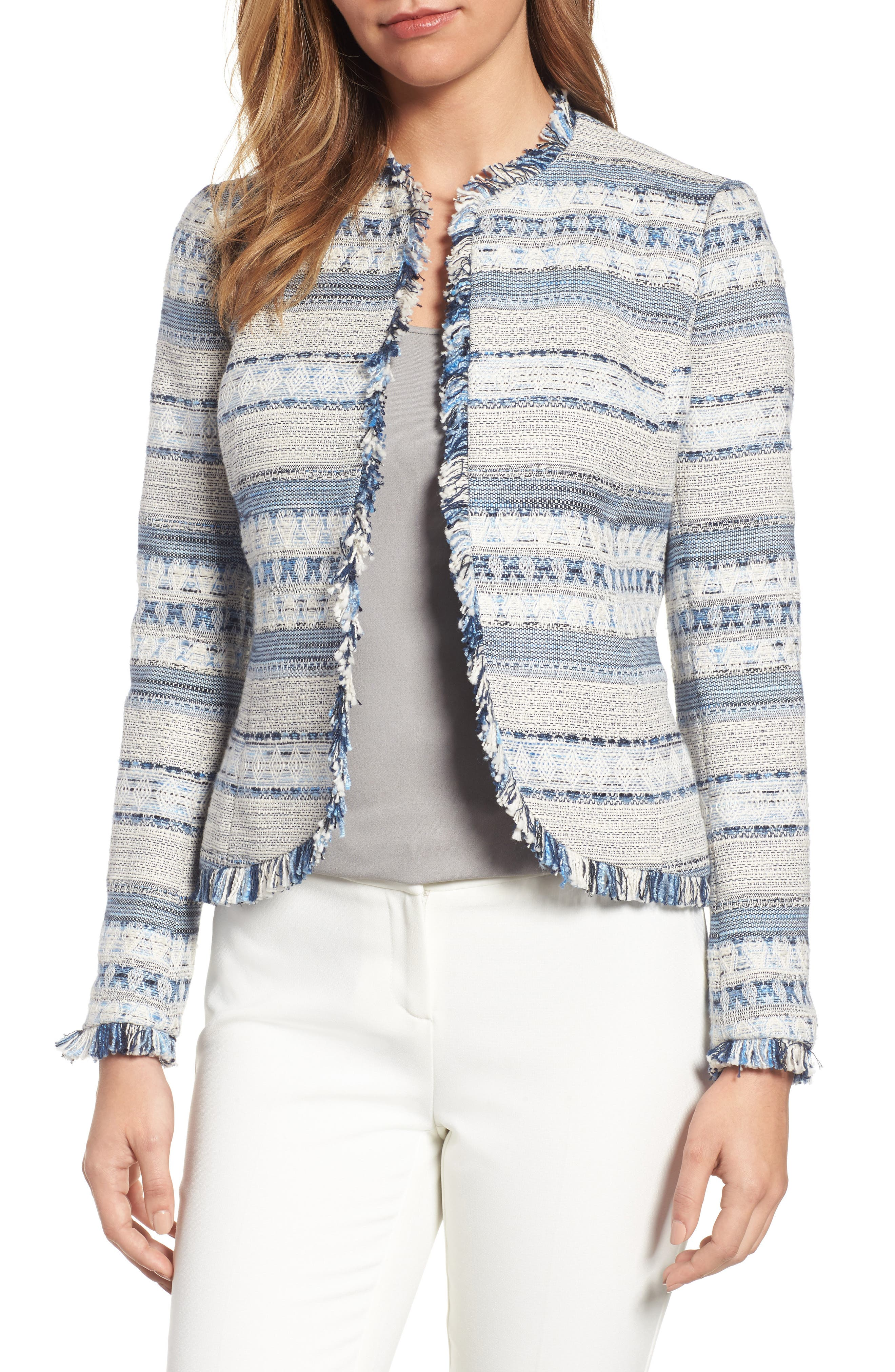 Alternate Image 1 Selected - Anne Klein Tweed Jacket
