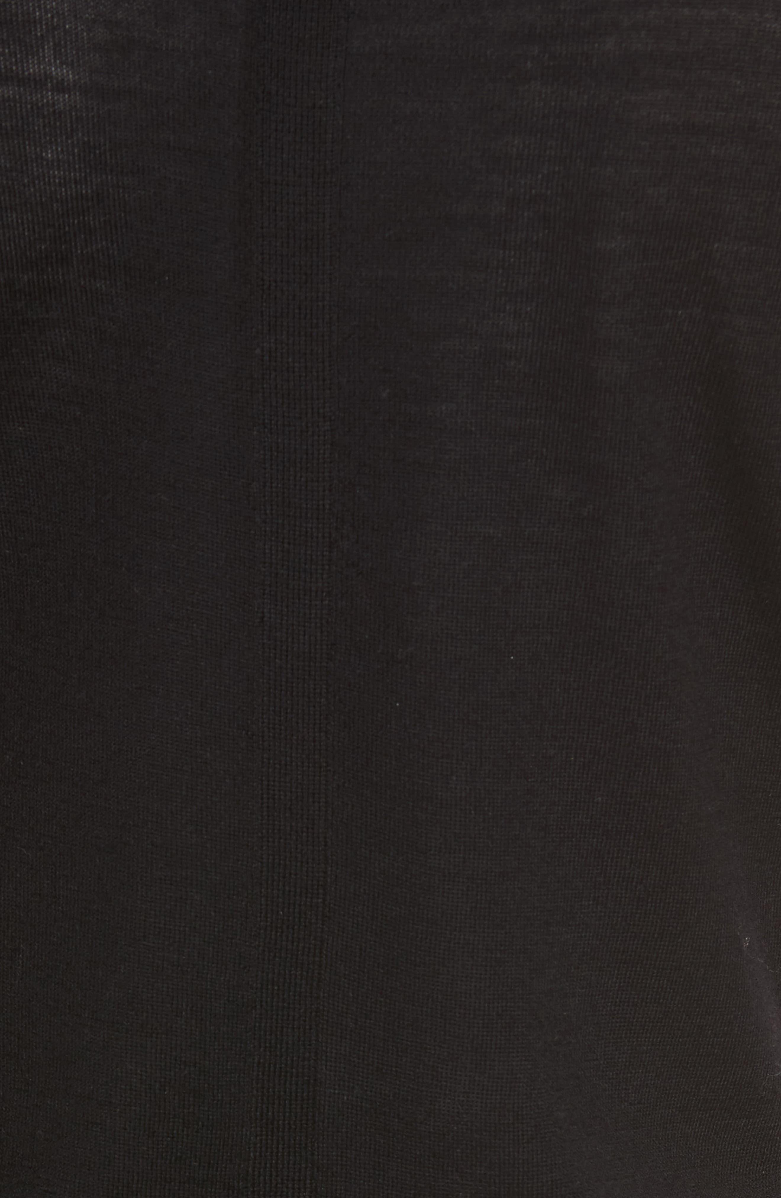 Italian Merino Wool Cardigan,                             Alternate thumbnail 5, color,                             Black