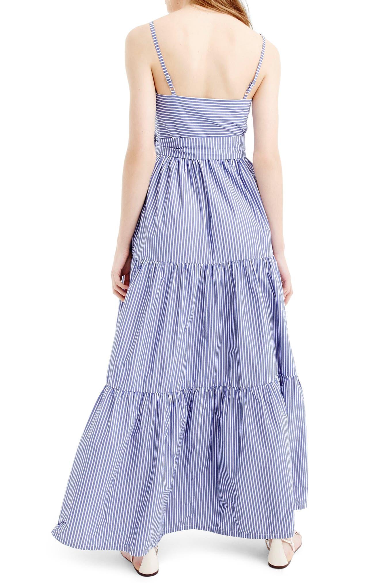 Alternate Image 3  - J.Crew Stripe Tiered Maxi Dress (Regular & Petite)