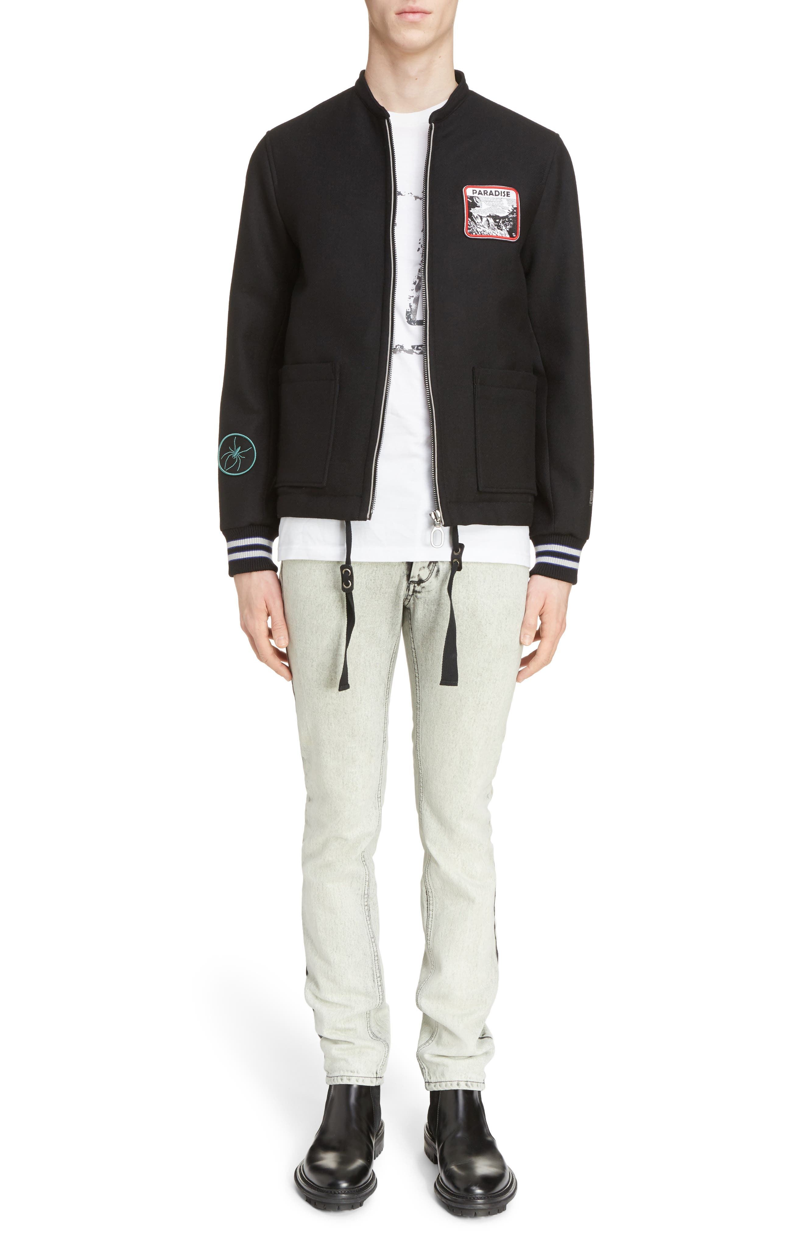 Alternate Image 6  - Lanvin Paradise Patch Bomber Jacket
