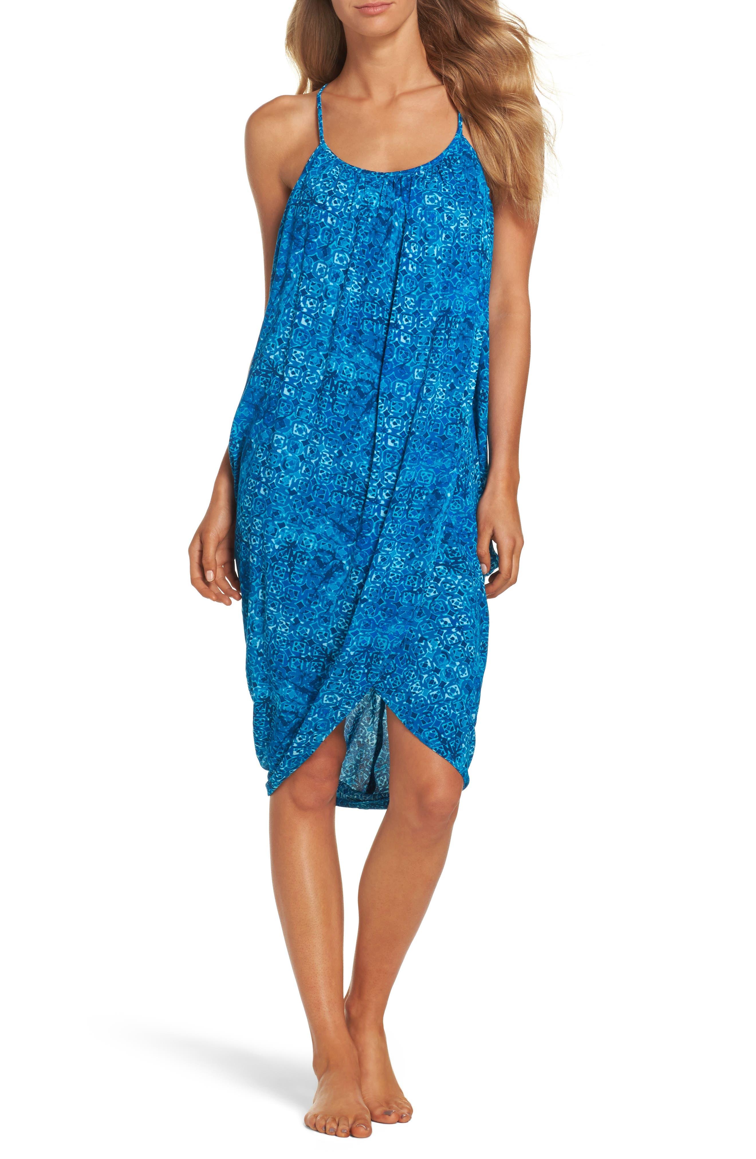 Green Dragon Batik-I-Bleu Genevieve Cover-Up Dress