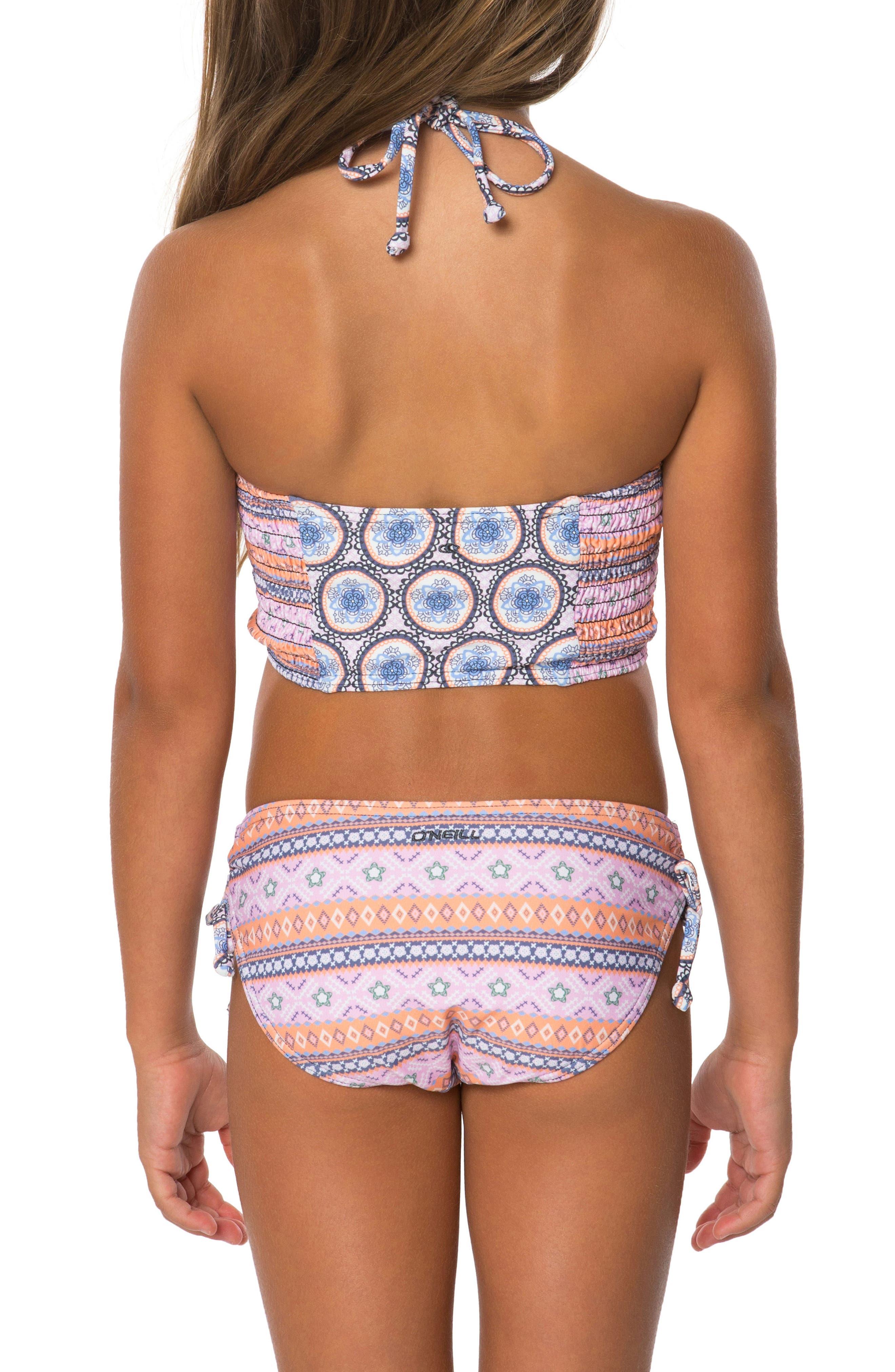 Alternate Image 2  - O'Neill Evie Two-Piece Tankini Swimsuit (Toddler Girls)