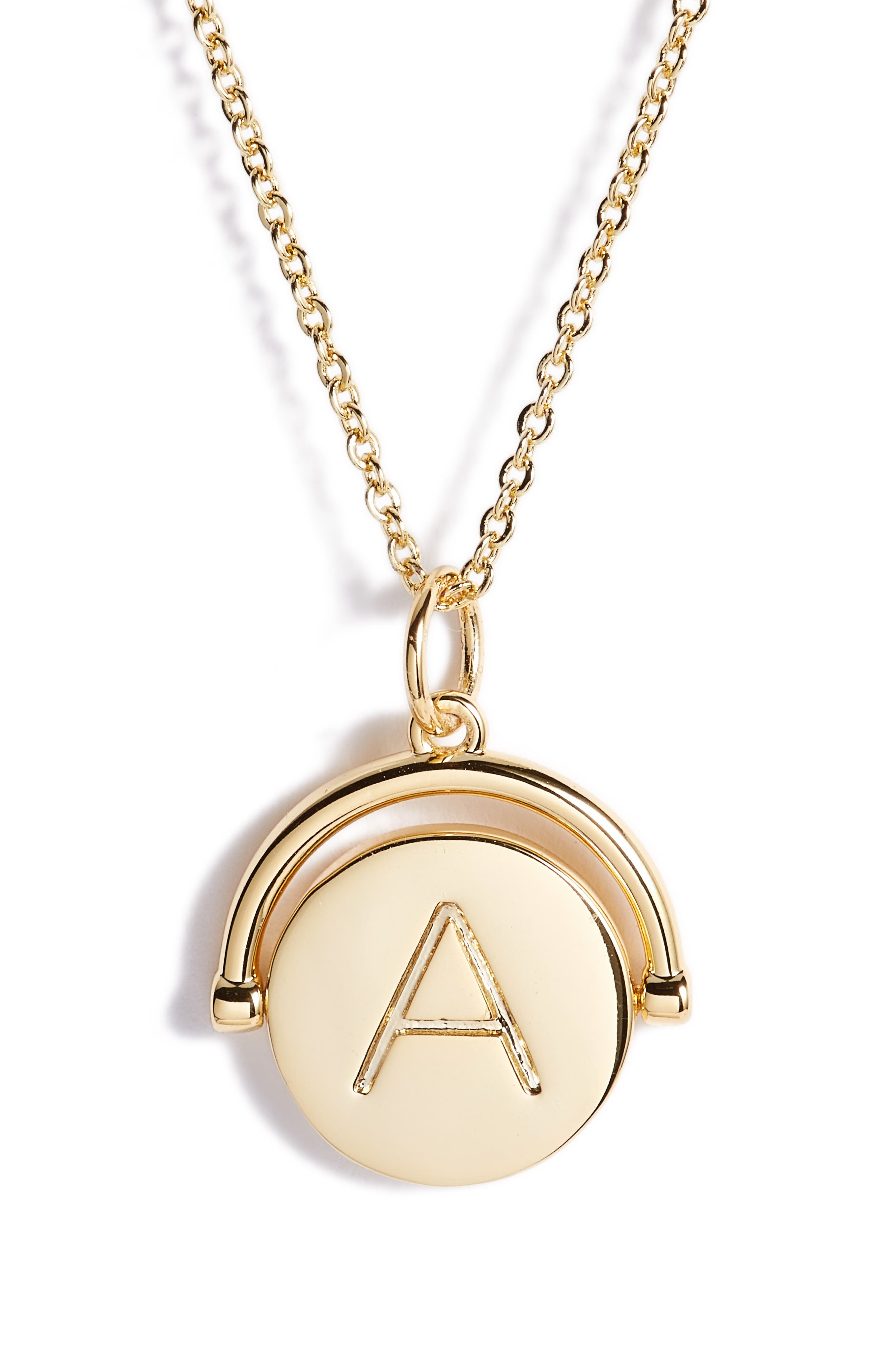 Alternate Image 3  - lulu dk Love Letters Spinning Initial Necklace