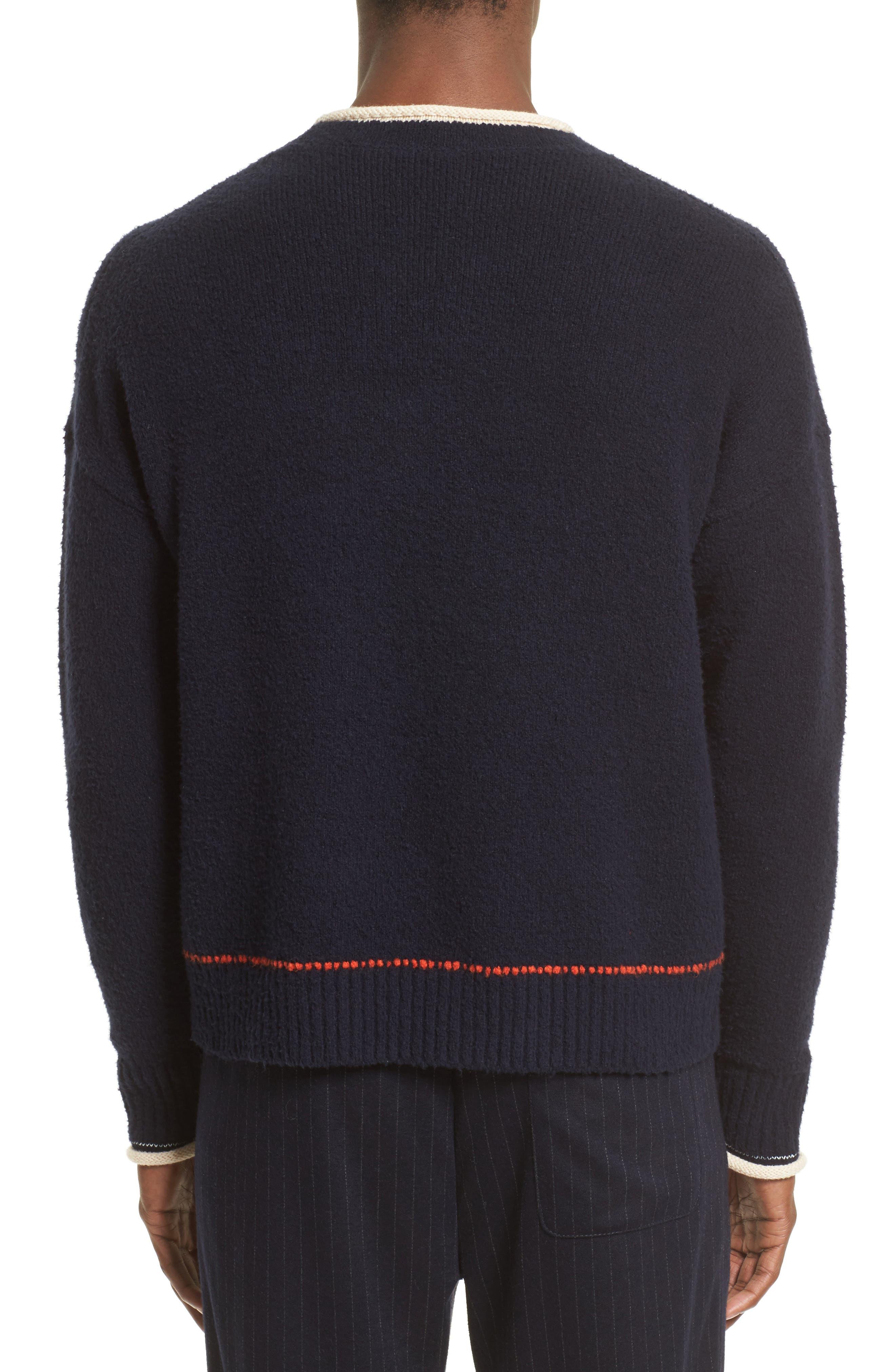 Plaited Sweater,                             Alternate thumbnail 2, color,                             Dark Navy